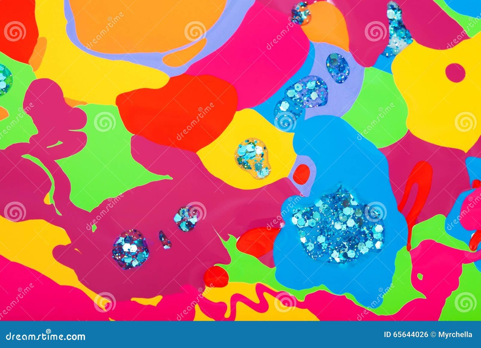 Fond des taches colorées du vernis à ongles