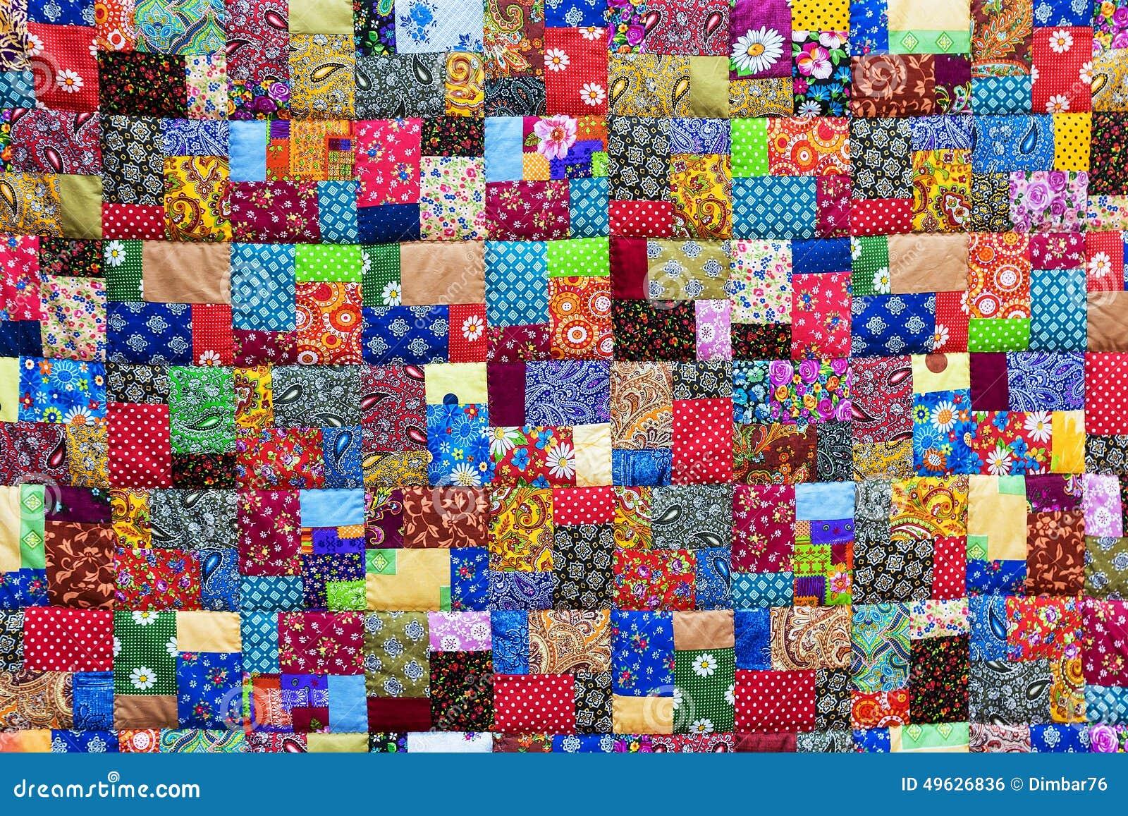 Fond des tissus color s de patchwork photo stock image 49626836 - Tissus bohemes colores ...