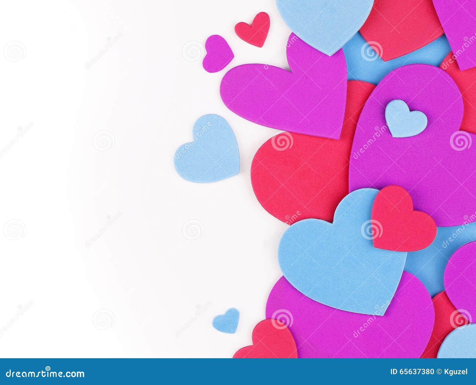 Fond du jour de Valentine Coeurs colorés