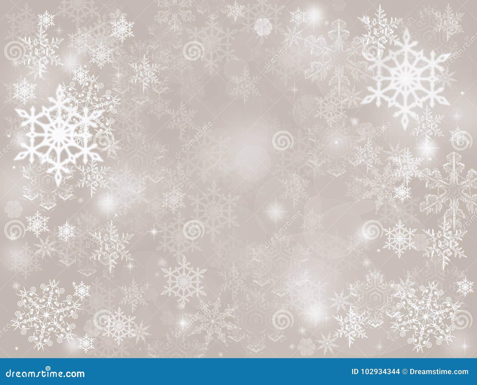 Fond en baisse de vacances de Noël d hiver de neige abstraite argentée de bokeh