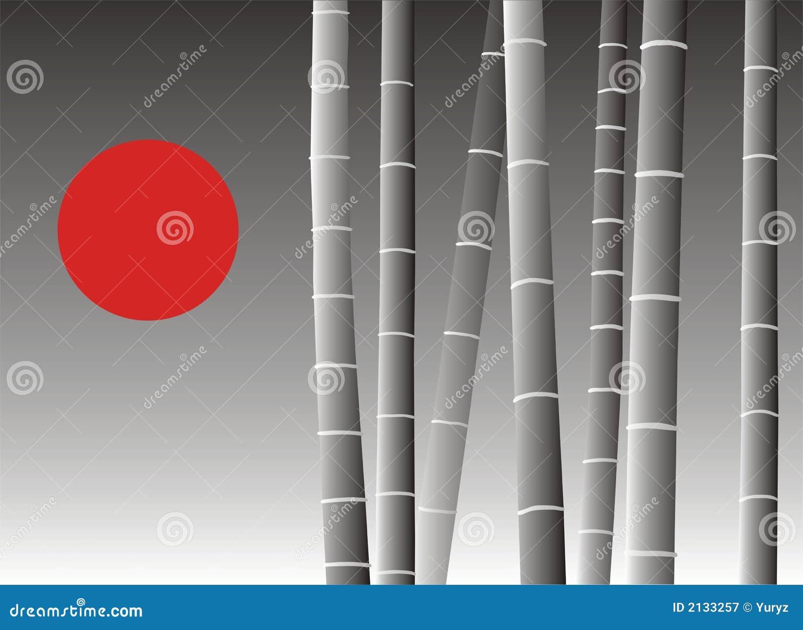 Fond en bambou asiatique
