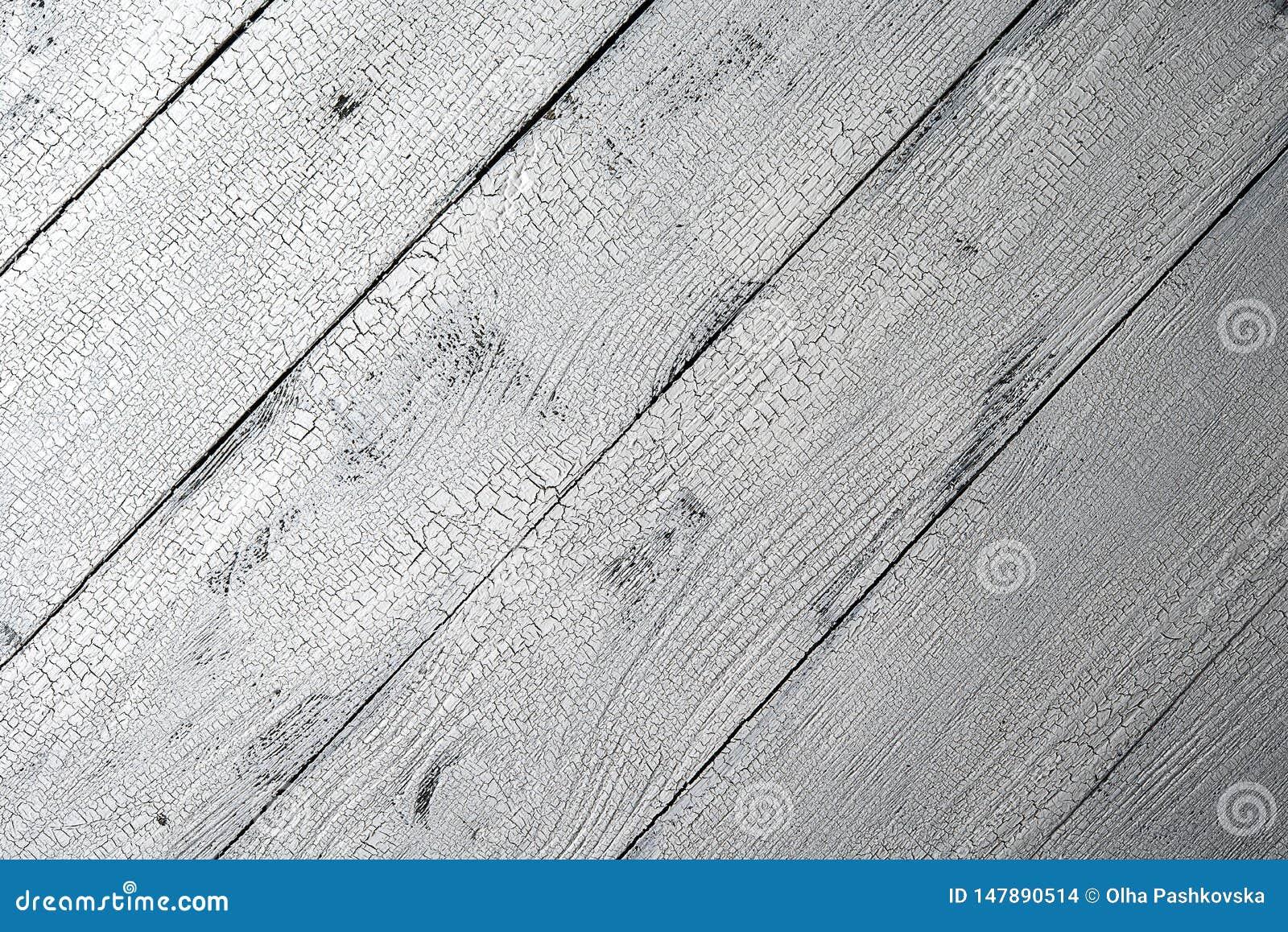 Fond en bois âgé blanc diagonal
