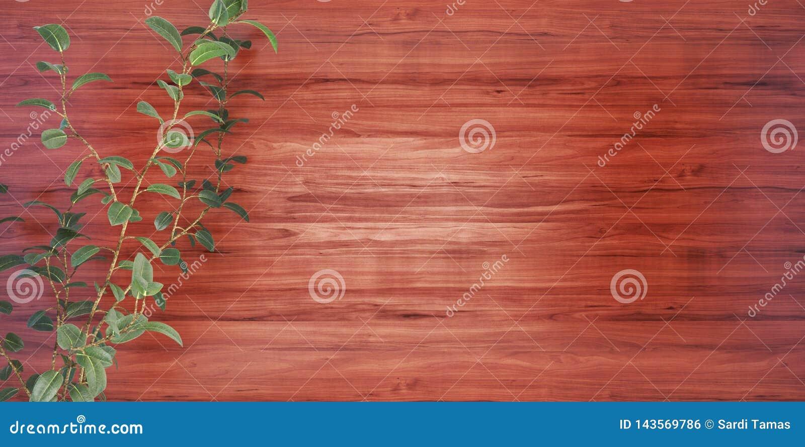 Fond en bois avec une illustration de l usine 3D