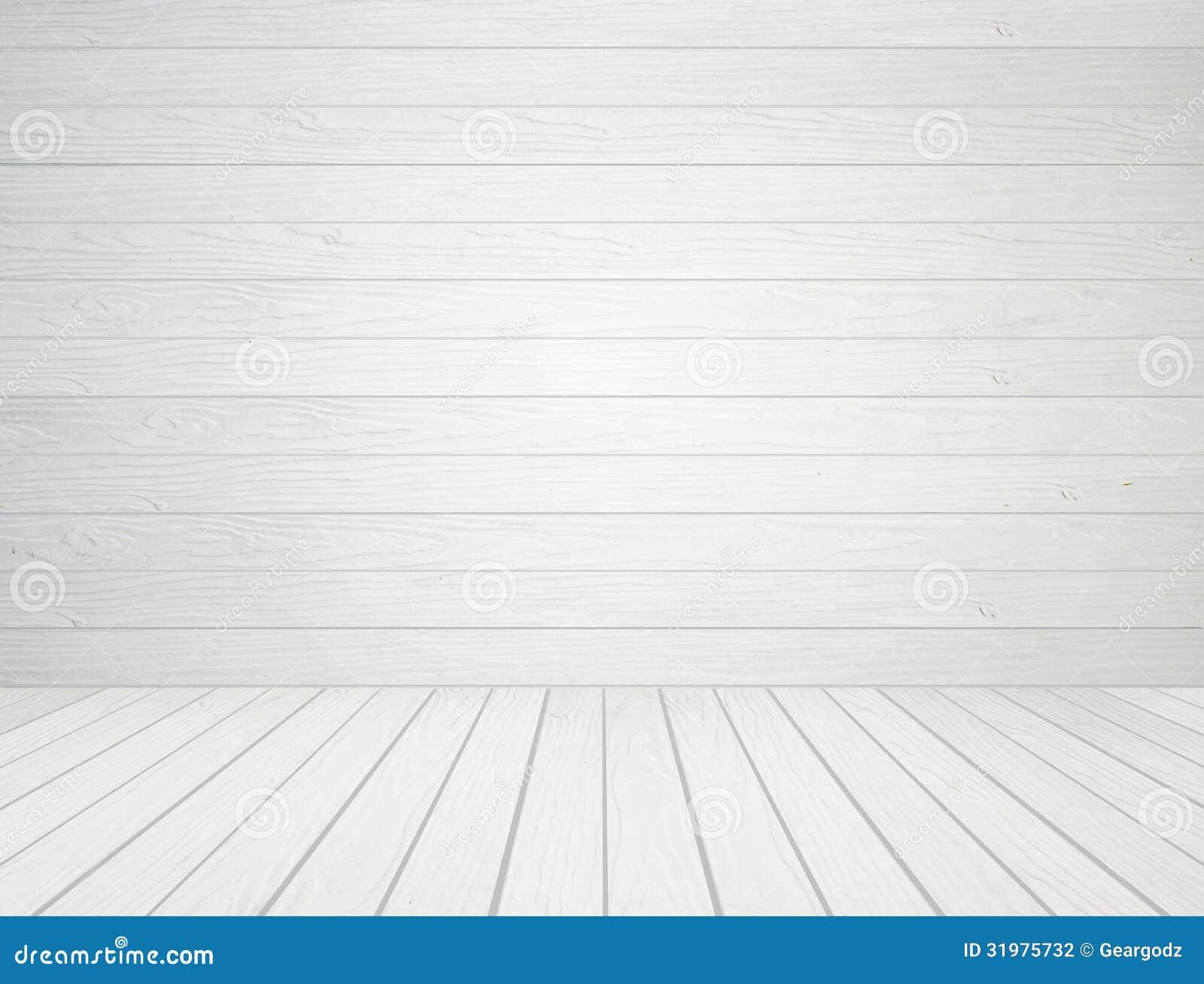 Fond en bois blanc de plancher de mur et en bois