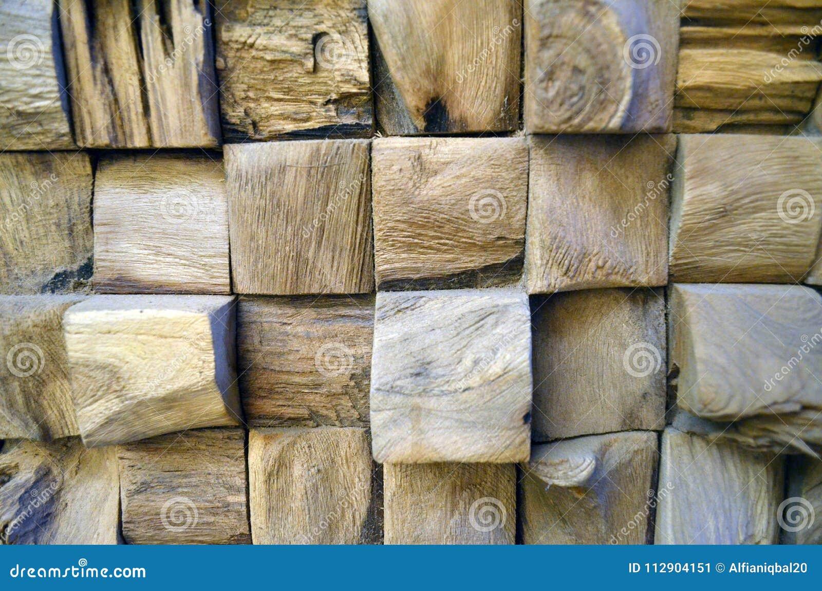 Fond en bois carrelé de mur de texture de vieux teck pour la conception et la décoration Texture du plan rapproché en bois de fon