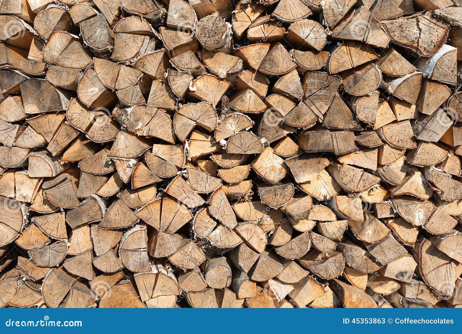 Fond en bois coupé de rondins