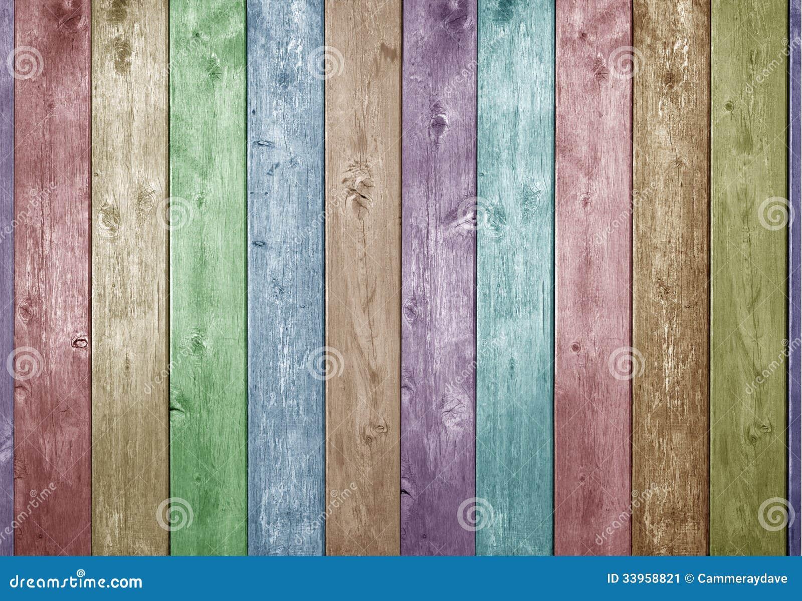 Fond en bois de couleur