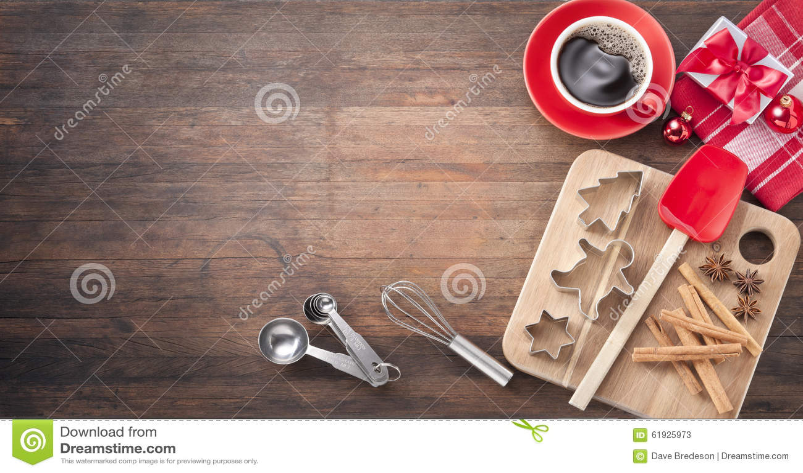 Fond en bois de cuisson de Noël