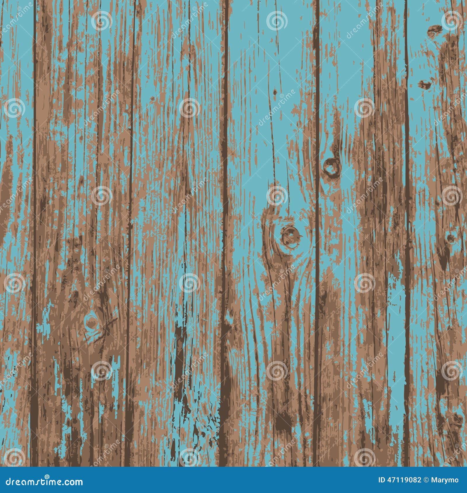 Fond en bois de texture de vieille planche réaliste bleue