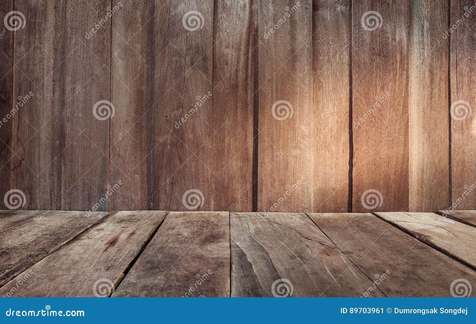 La Plinthe Du Mur fond en bois de voie de garage de mur et de plancher de
