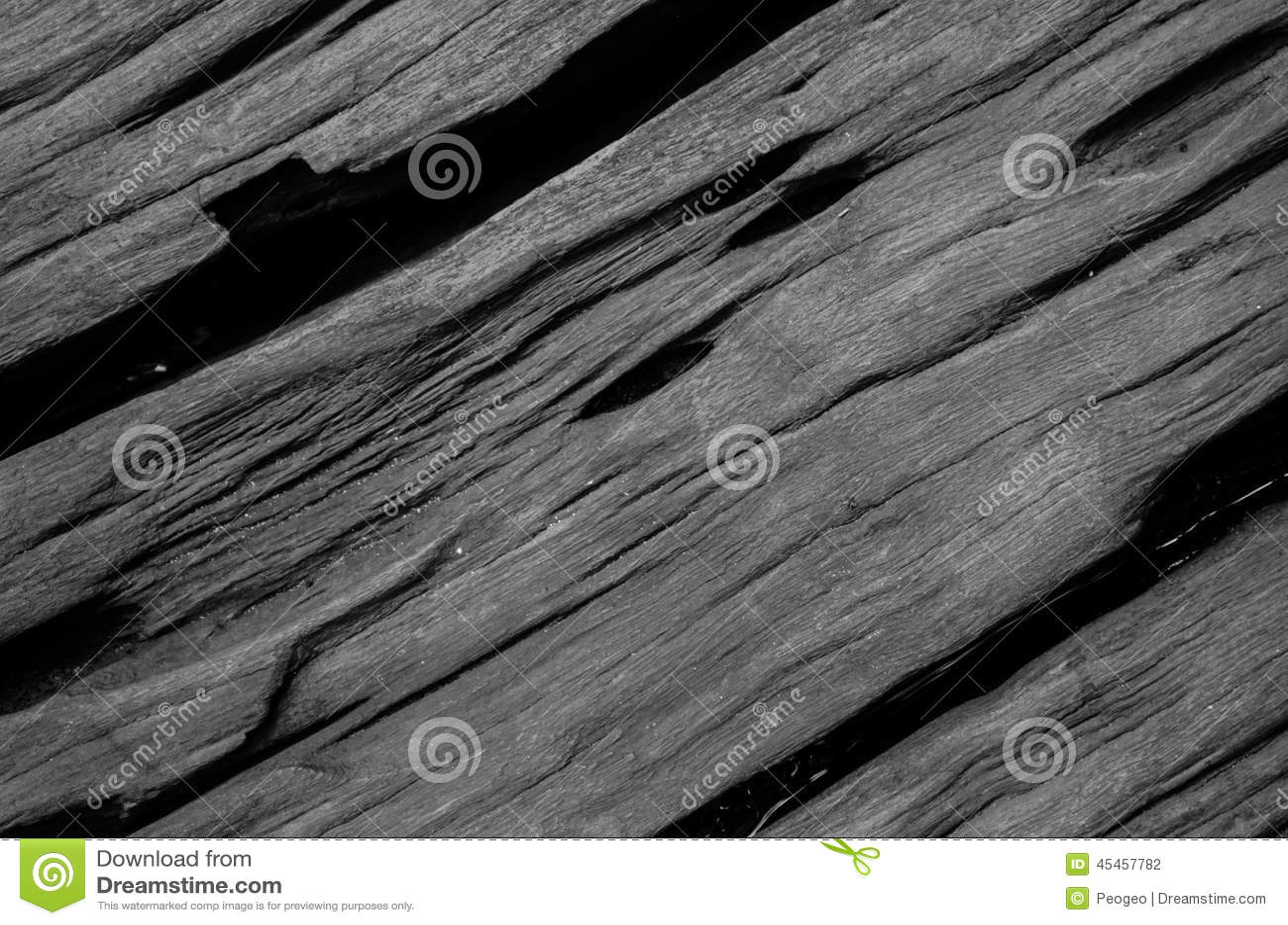 Fond en bois dur de planche de fente noir et blanc photo for Planche en bois noir