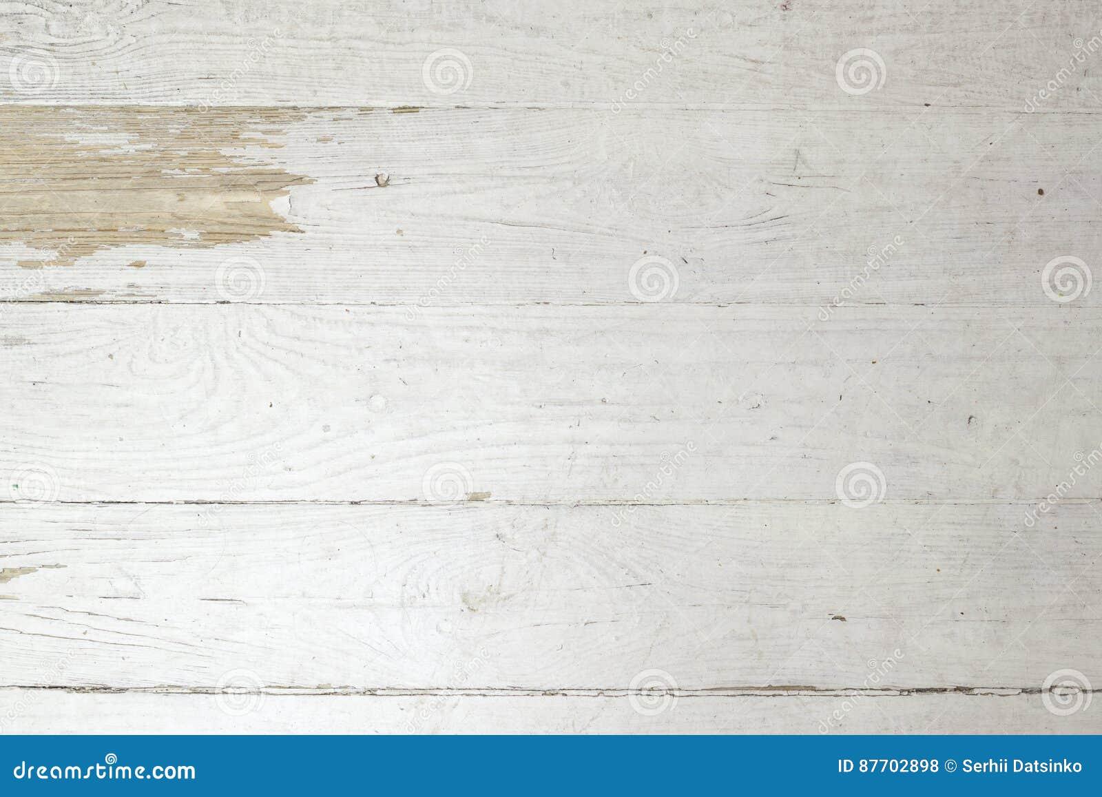 Fond en bois minable de planche superficiel par les agents par vintage blanc