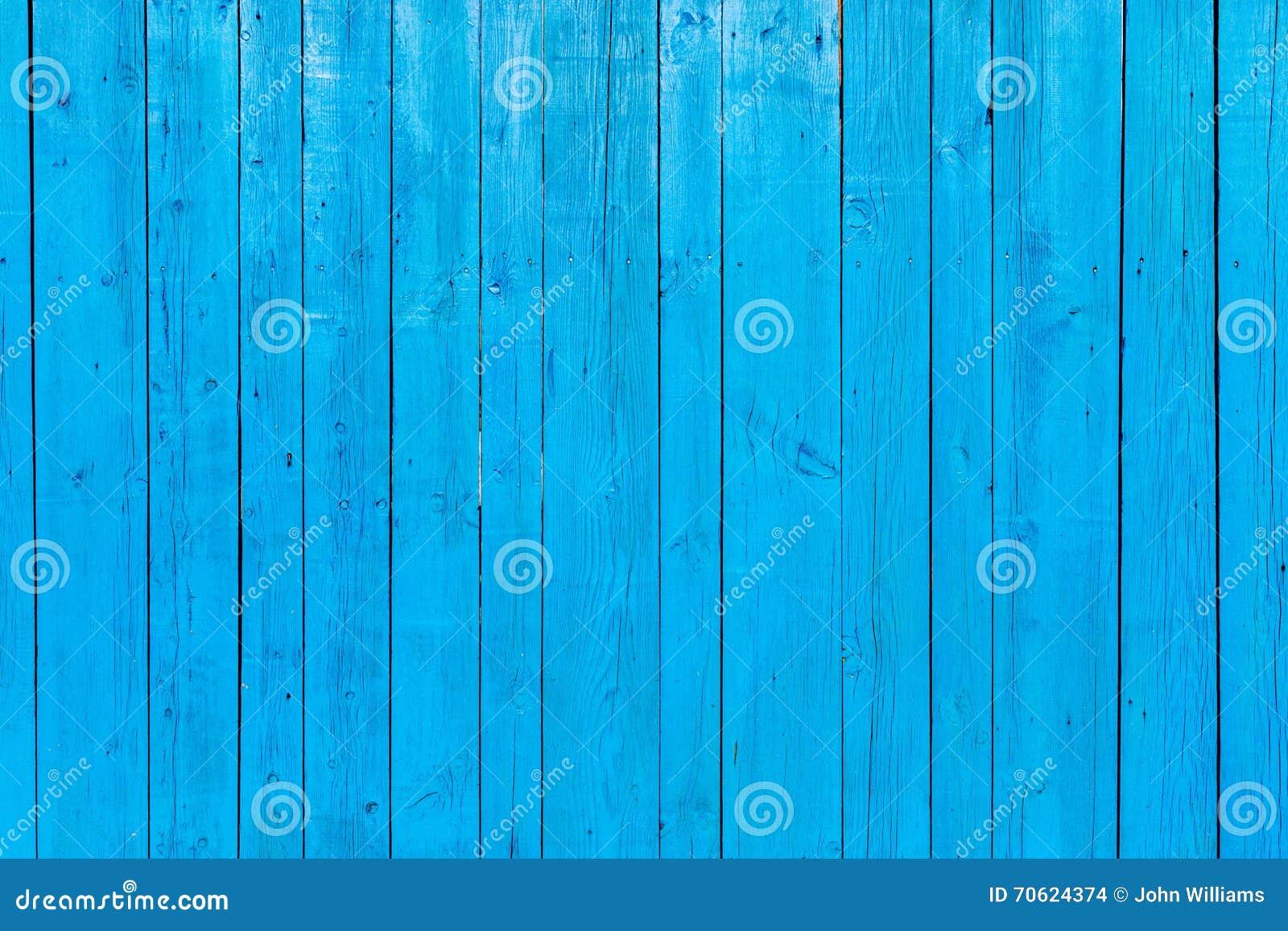 Fond en bois peint par bleu vibrant
