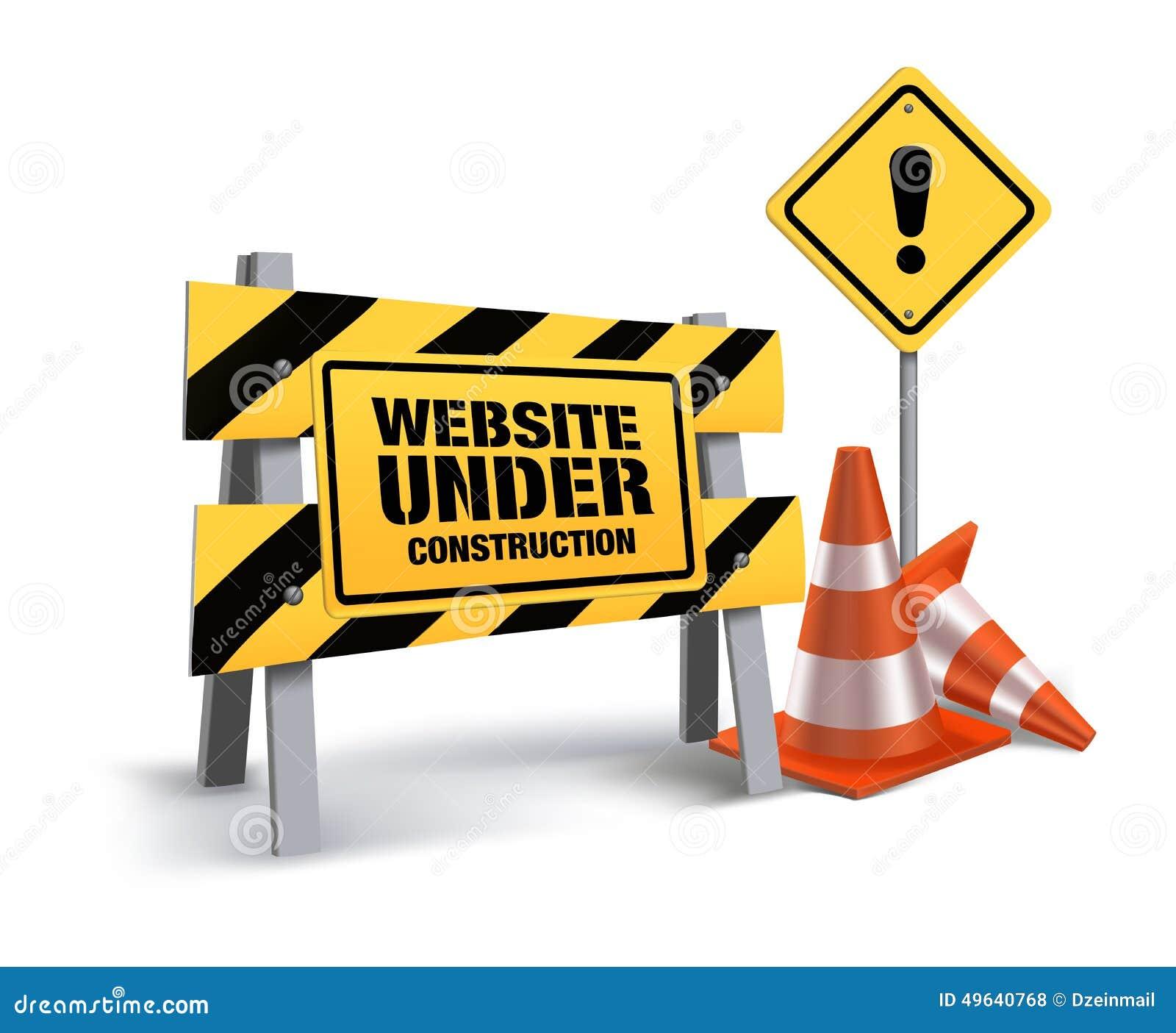 Fond En Construction De Blanc De Connexion De Site Web Illustration