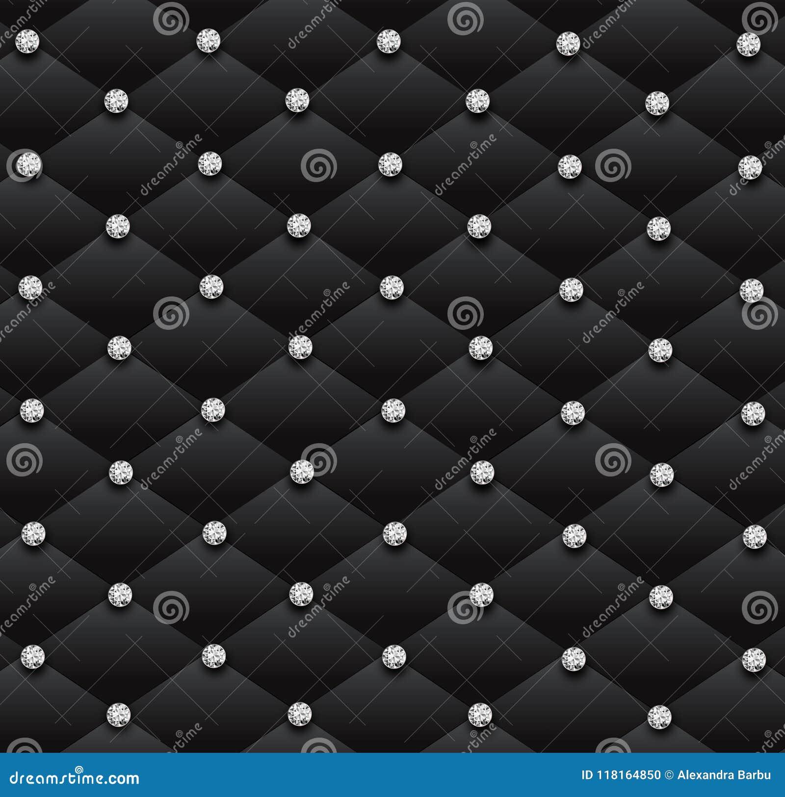 Papier Peint Capitonné Gris fond en cuir de modèle de charme de diamants noirs de sofa