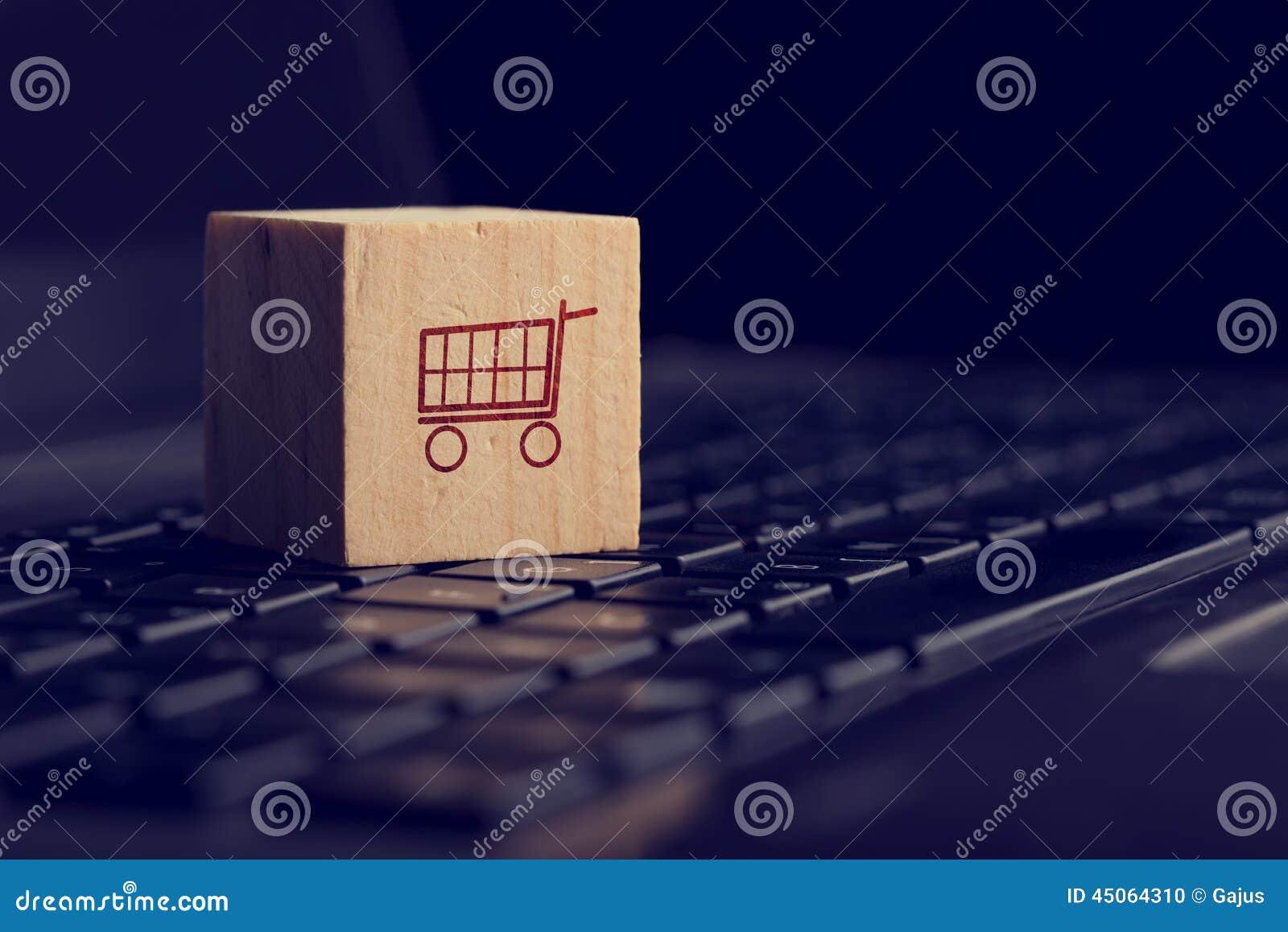 Fond en ligne d achats et de commerce électronique