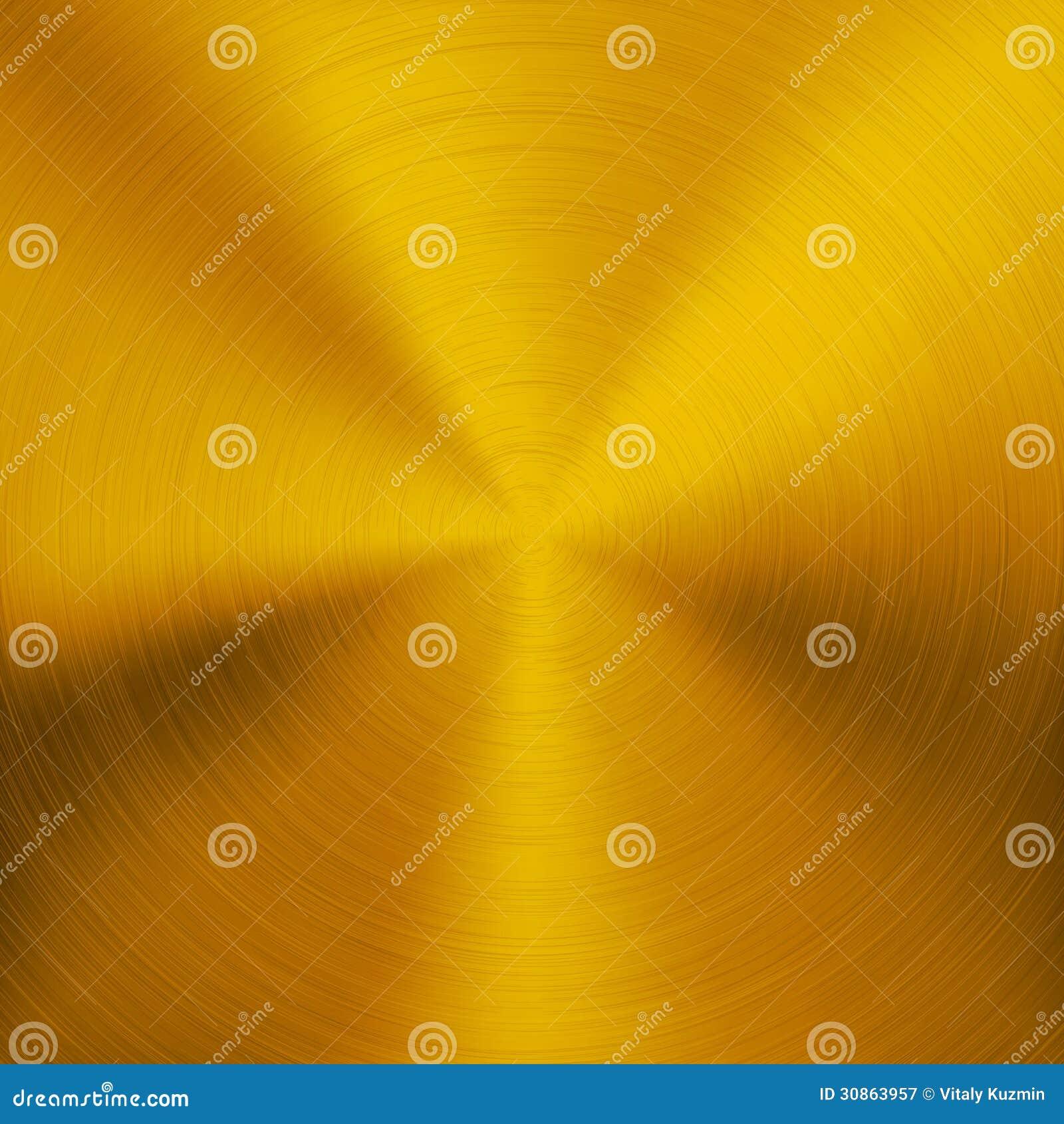 Fond en métal d or avec la texture circulaire