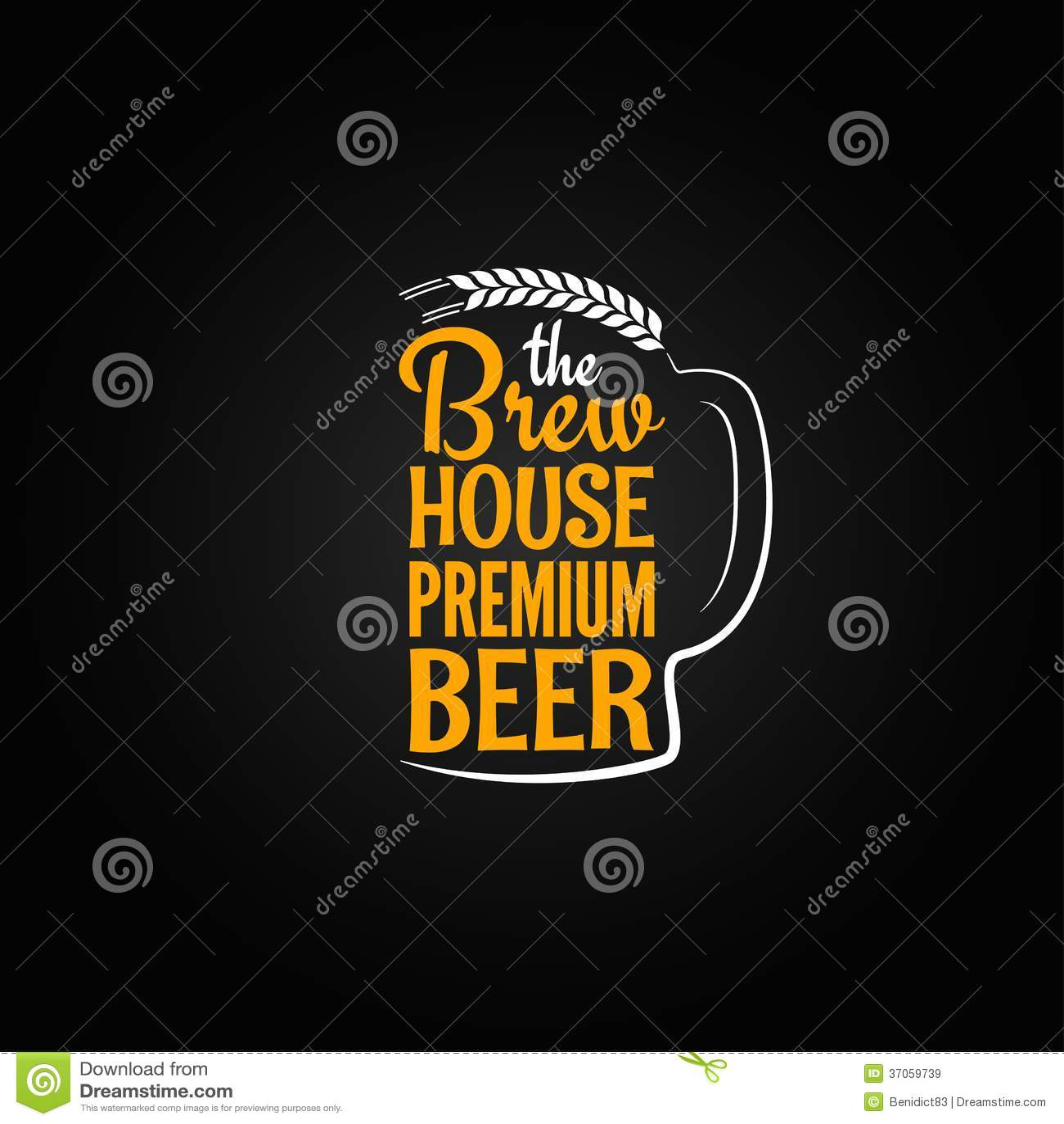 Fond en verre de menu de conception de maison de bouteille à bière