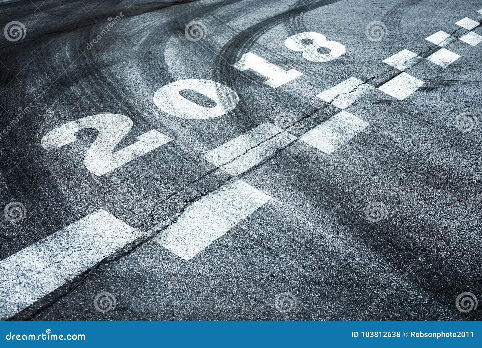 Fond 2018 entrant abstrait de nouvelle année