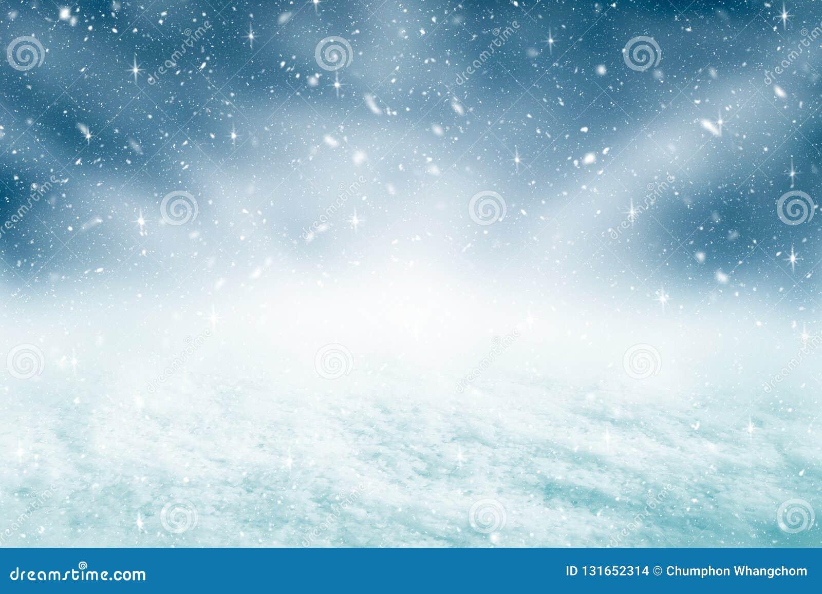 Fond et chutes de neige de Noël avec le concept de scintillement Contexte de Joyeux Noël et de bonne année