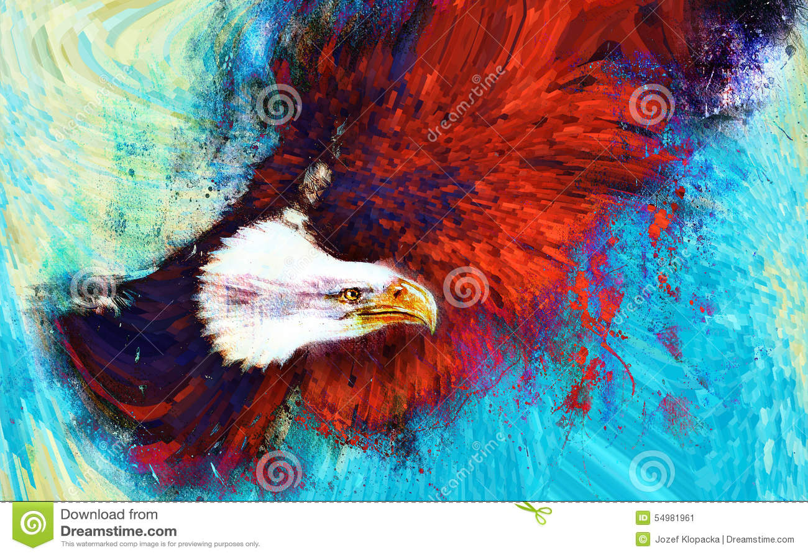 Fond et oiseau abstraits