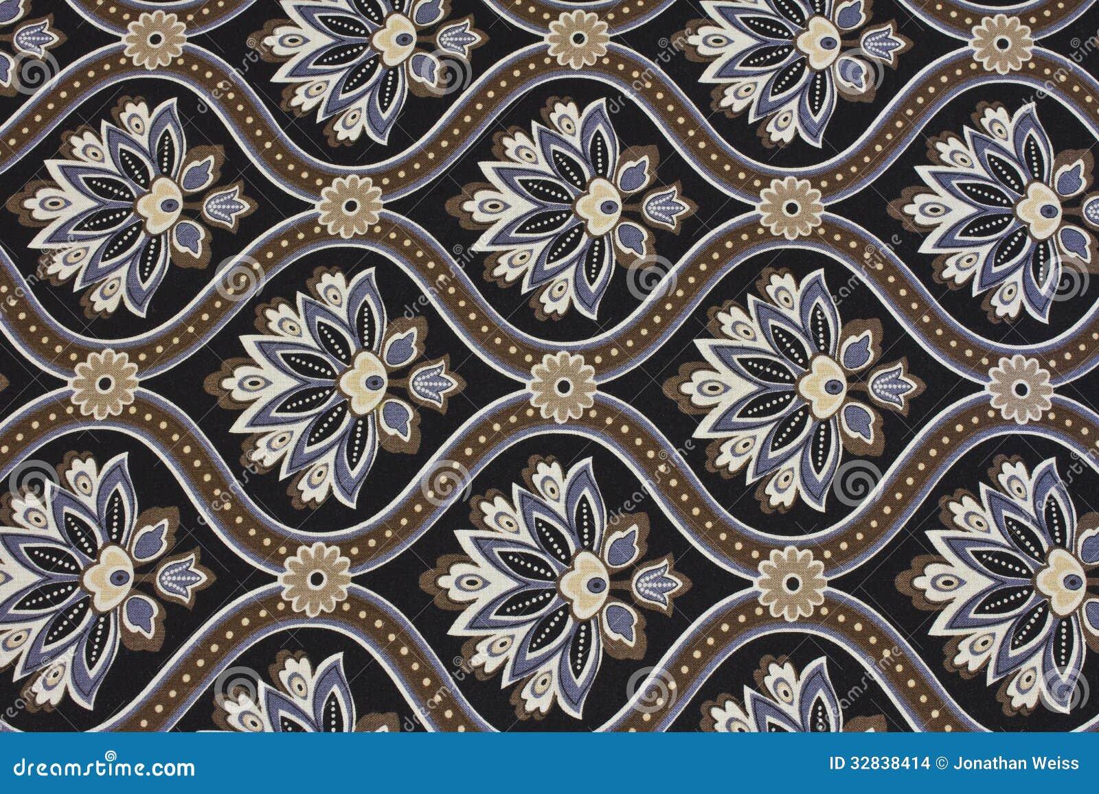 Fond fleuri de tissu