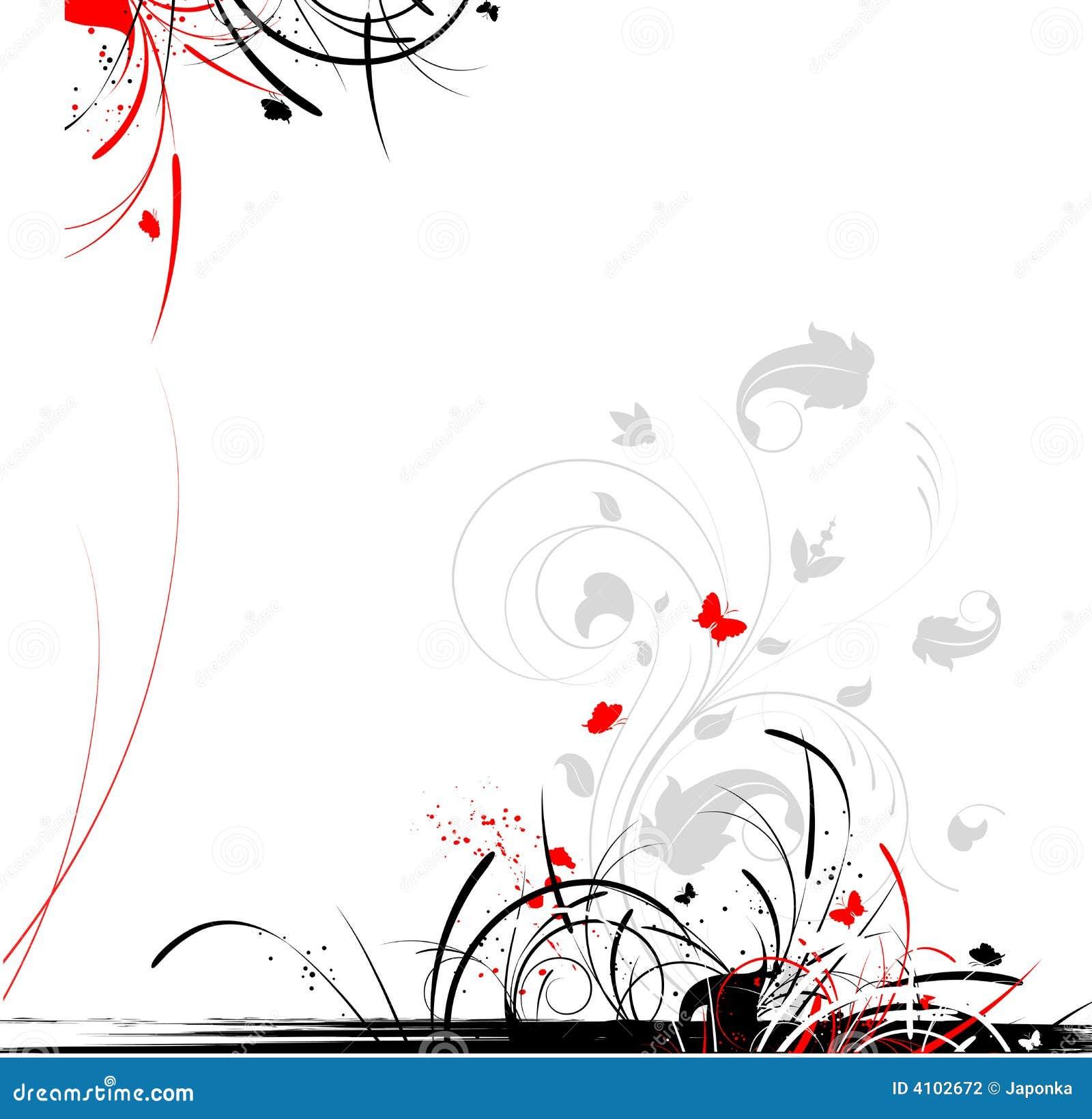 Fond floral abstrait avec le guindineau un format de vecteur est
