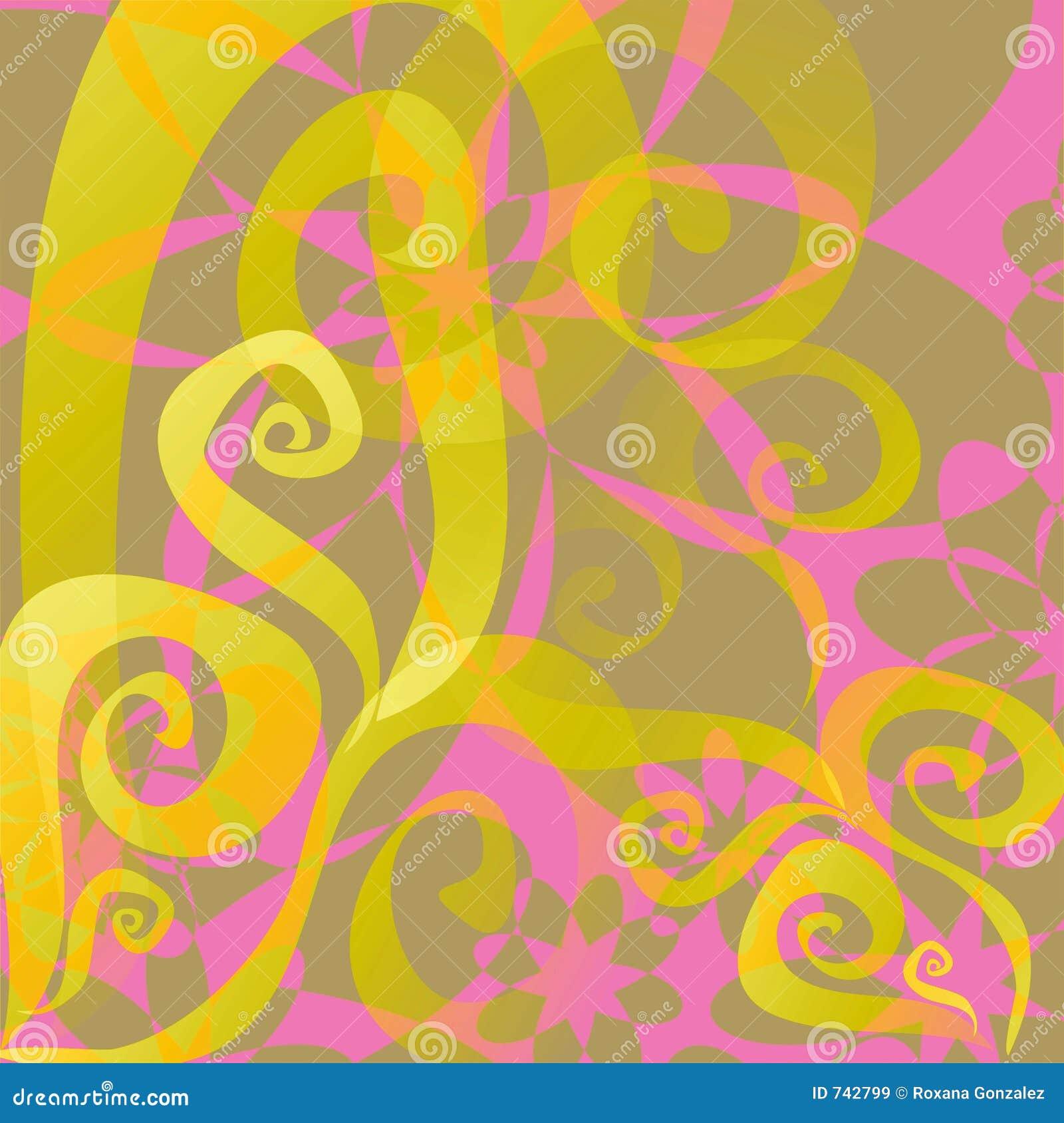 Fond floral abstrait