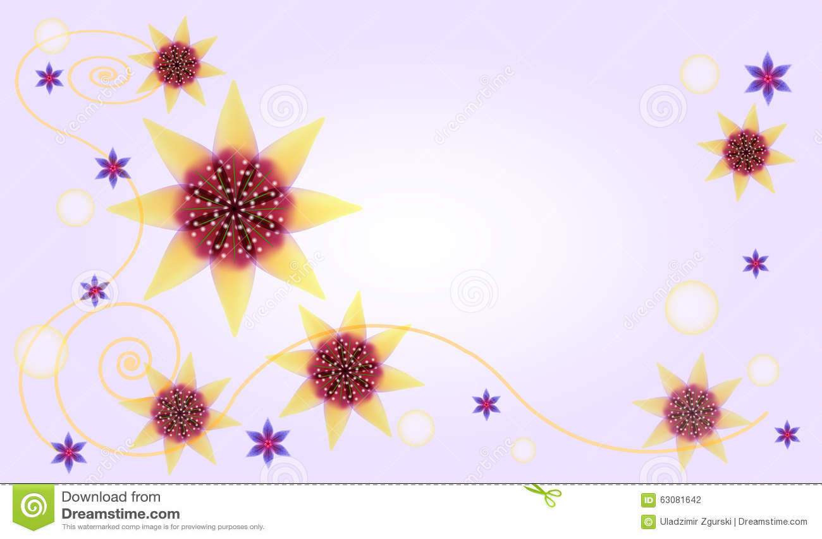 Download Fond Floral Abstrait Avec Les Fleurs Comme Une étoile Illustration de Vecteur - Illustration du anniversaire, ordinateur: 63081642