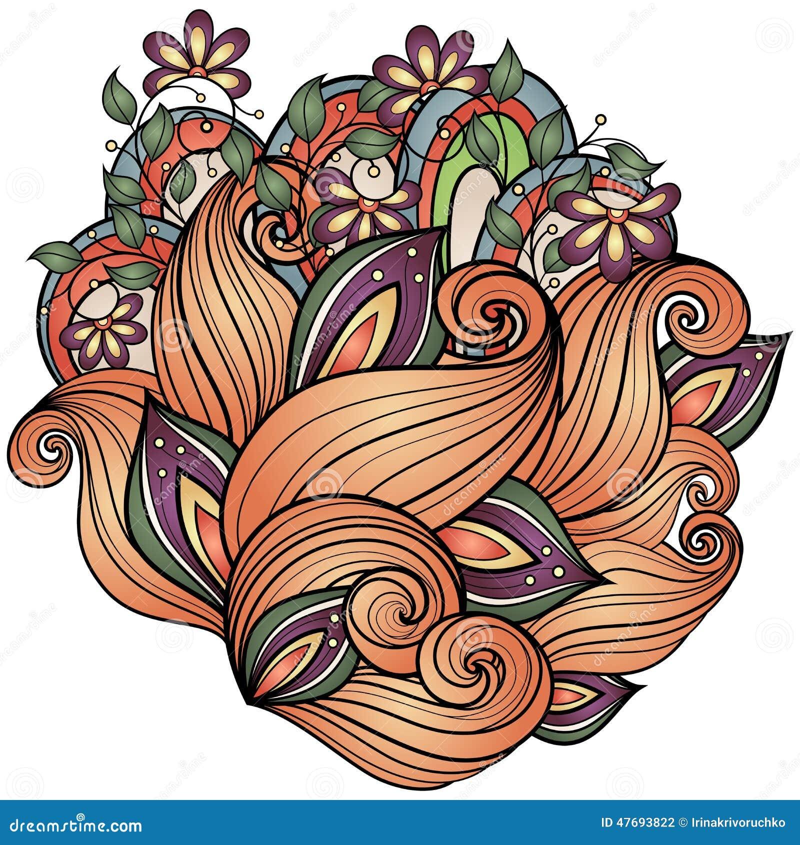 Fond floral coloré par vecteur