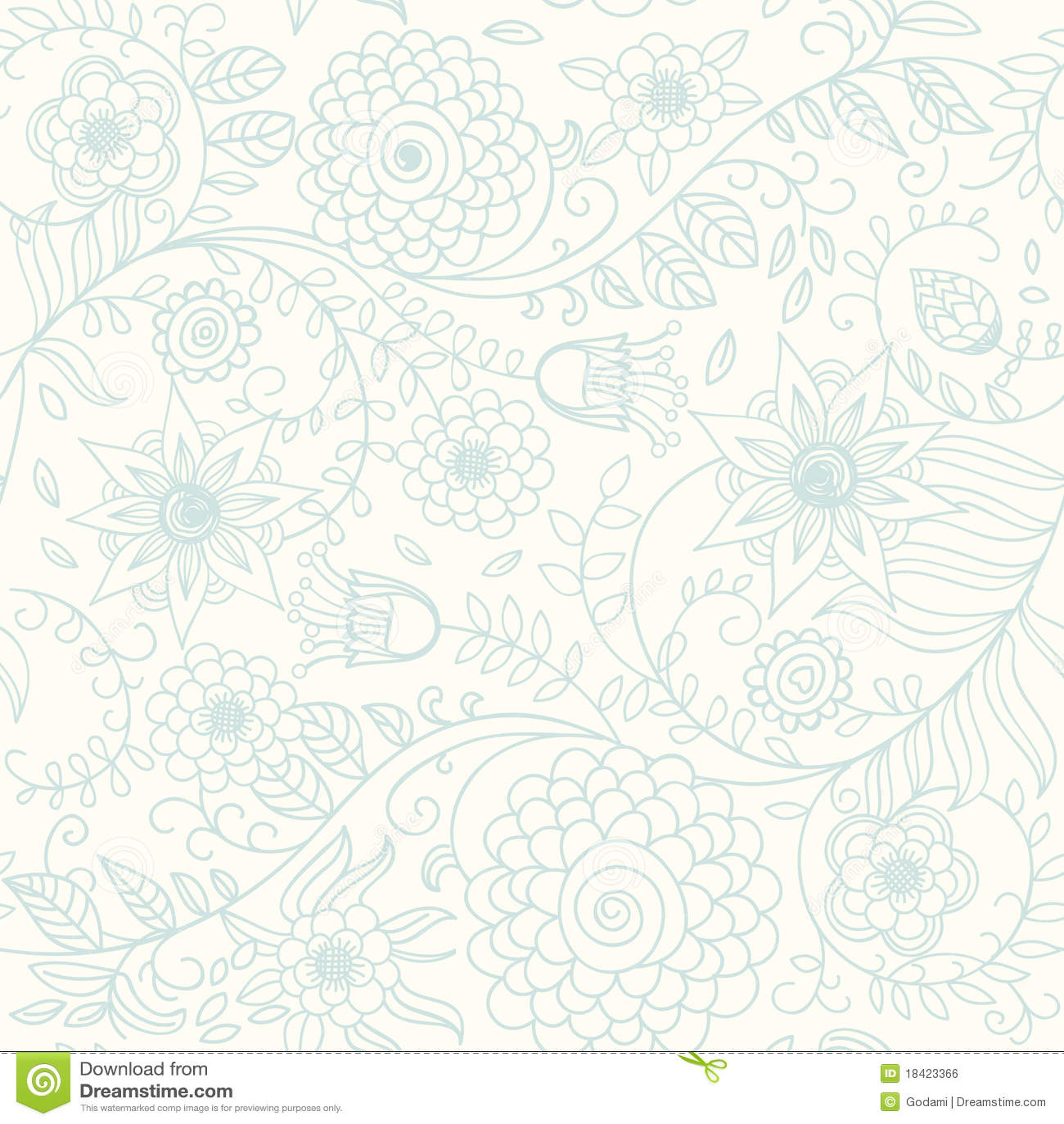 Fond floral dans des couleurs légères