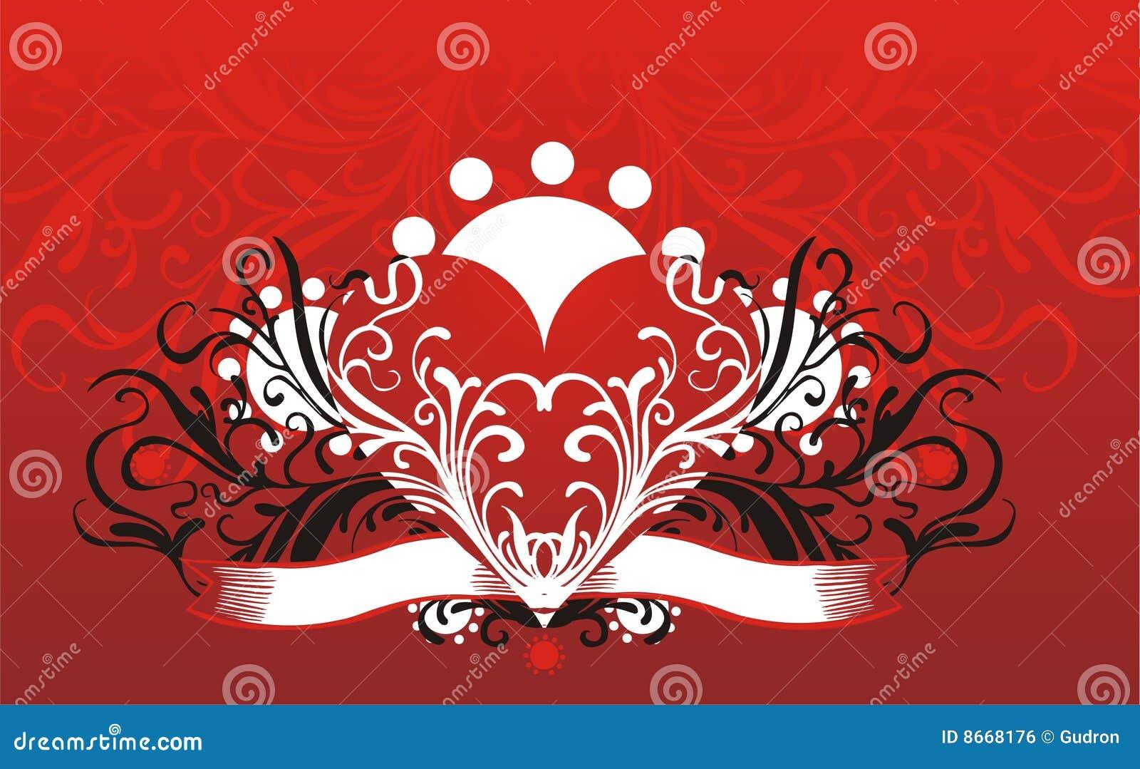 Fond floral de coeur