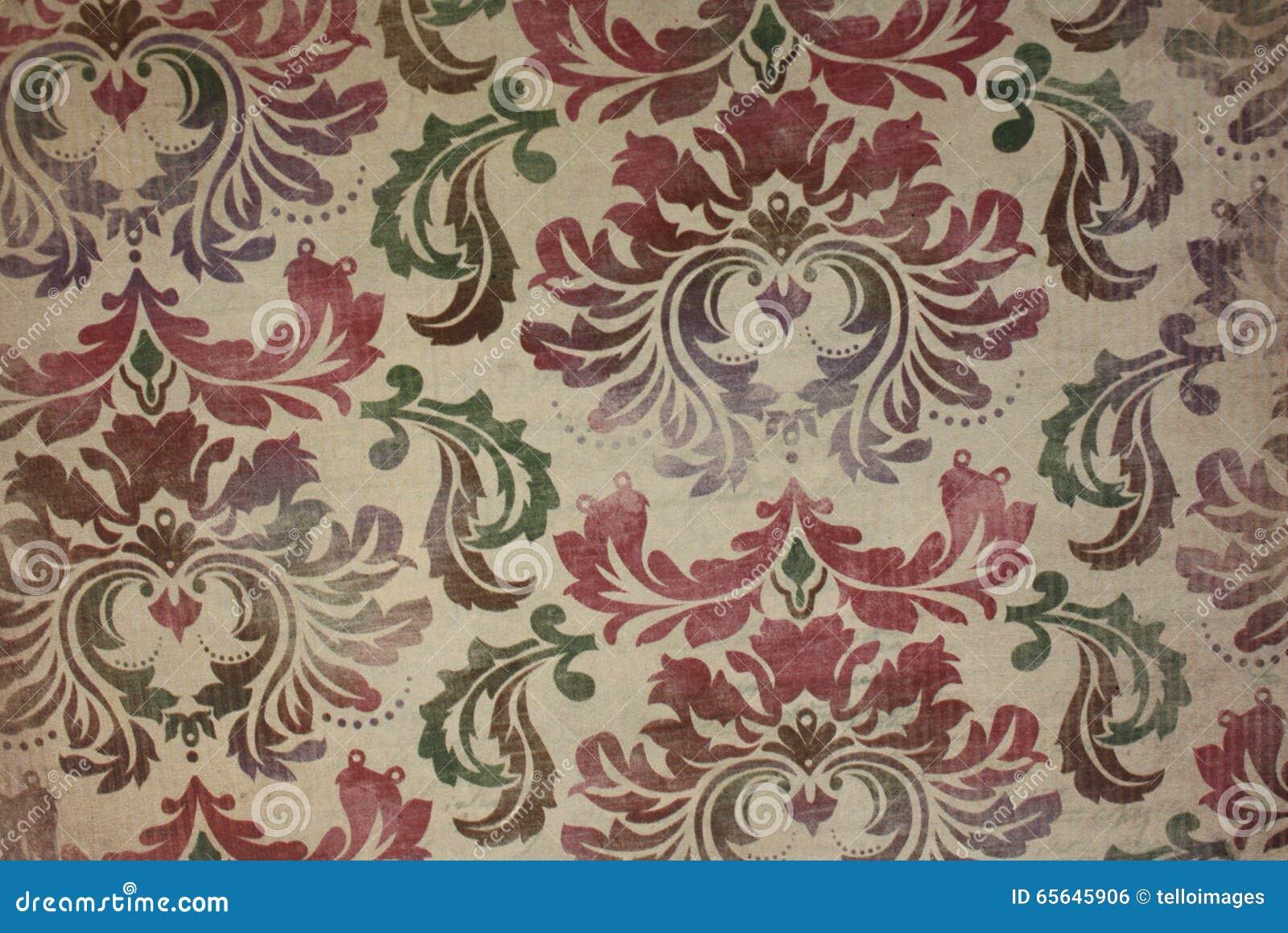 Fond floral de modèle de papier peint de vintage