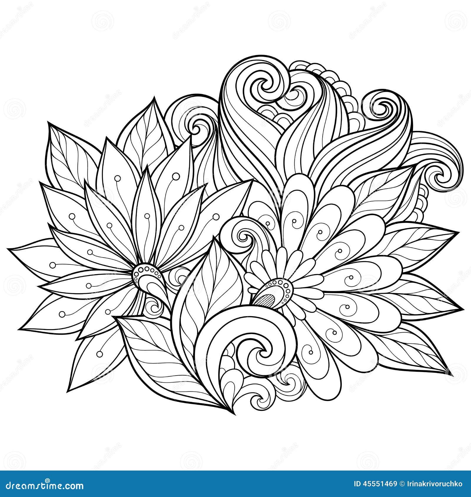 Fond floral de vecteur