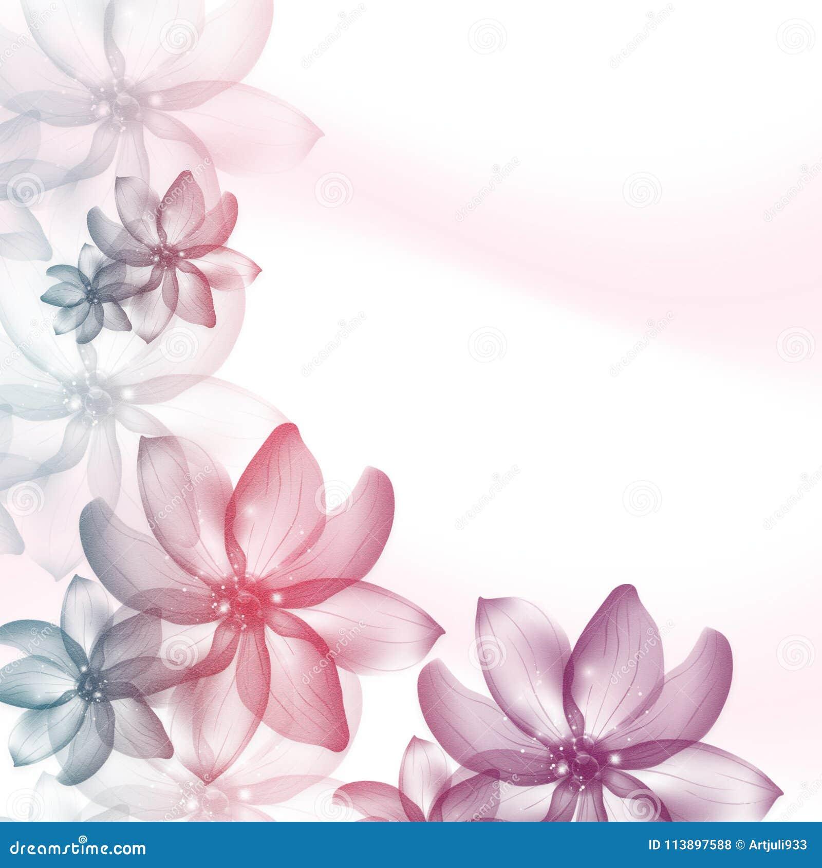 Fond Floral Invitation Mariage Modèle Décoratif De Cartes