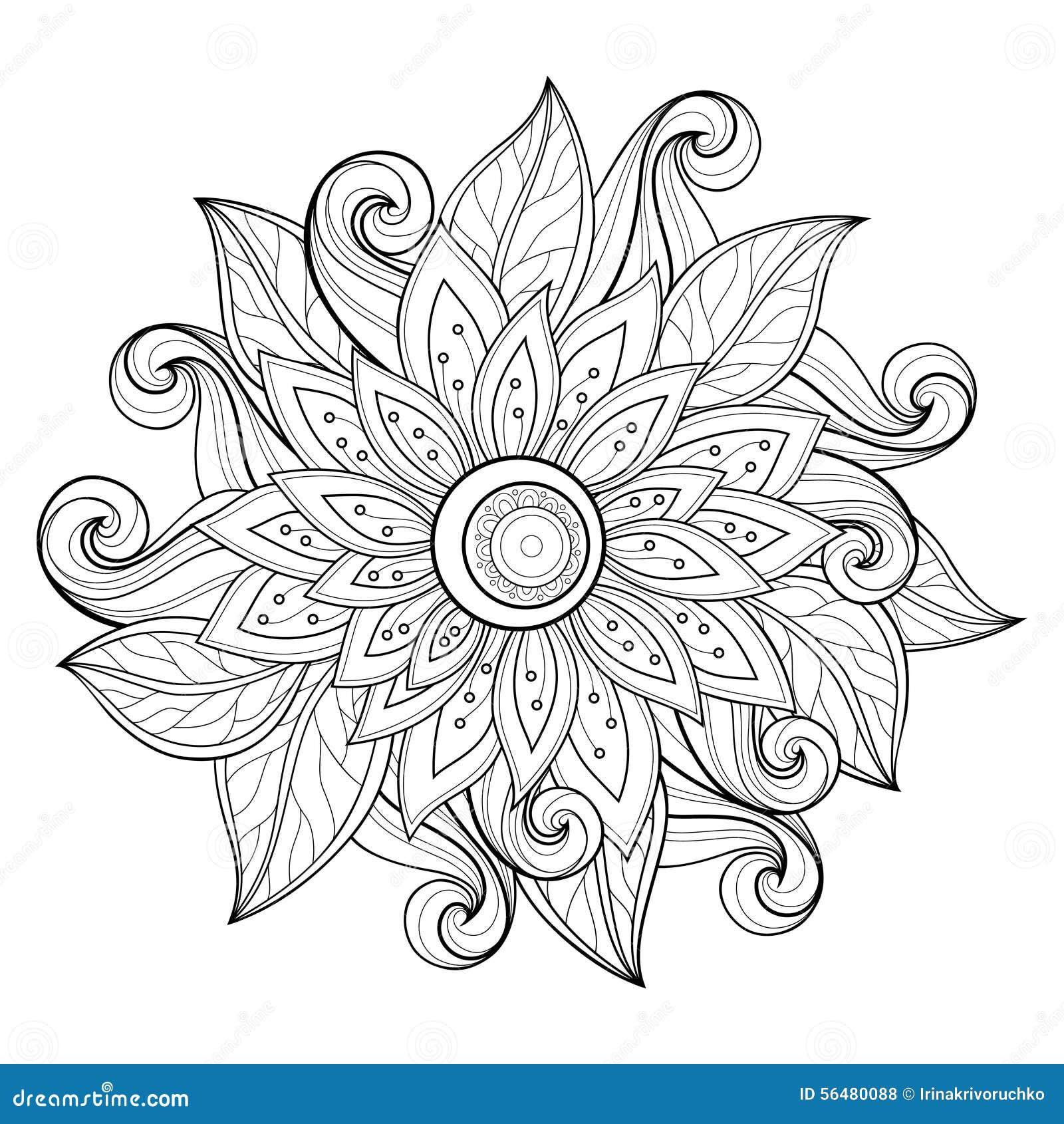 Fond floral monochrome de vecteur