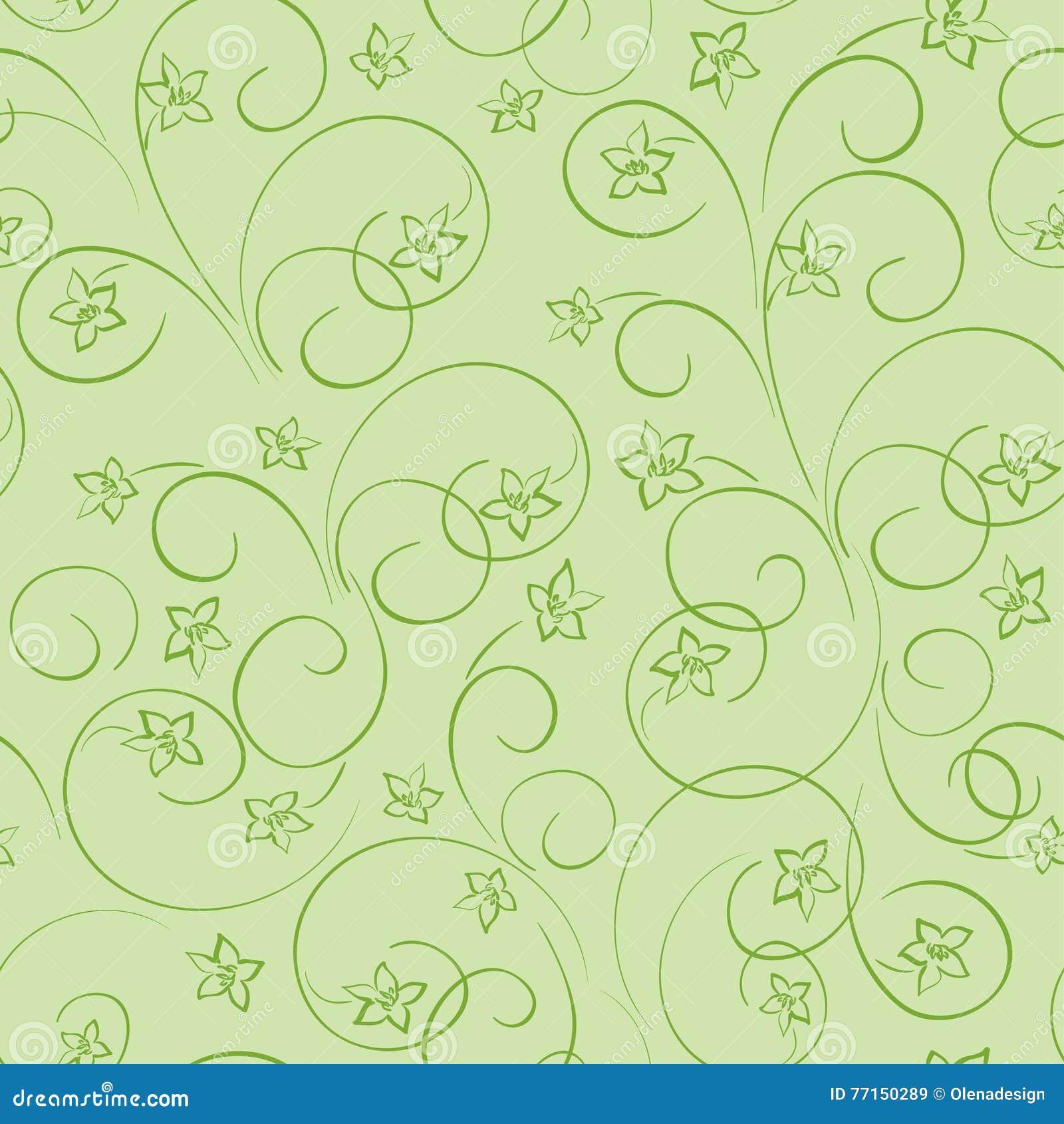 Fond floral vert clair - modèle sans couture avec le flo