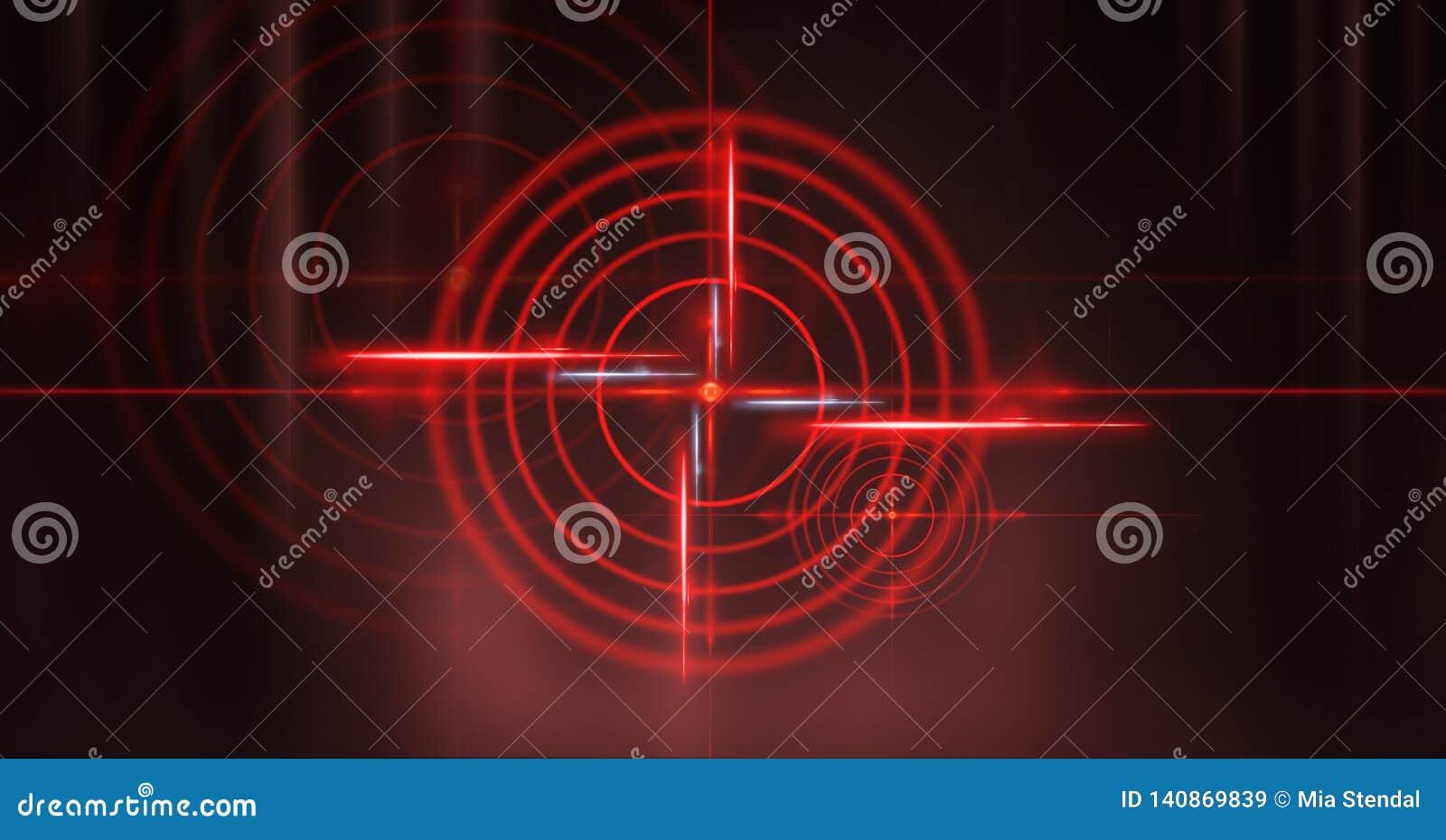 Fond foncé abstrait avec des rayons, la vue rouge de laser et la lampe au néon Tunnel vide, pièce, vue de nuit de sous-sol d une