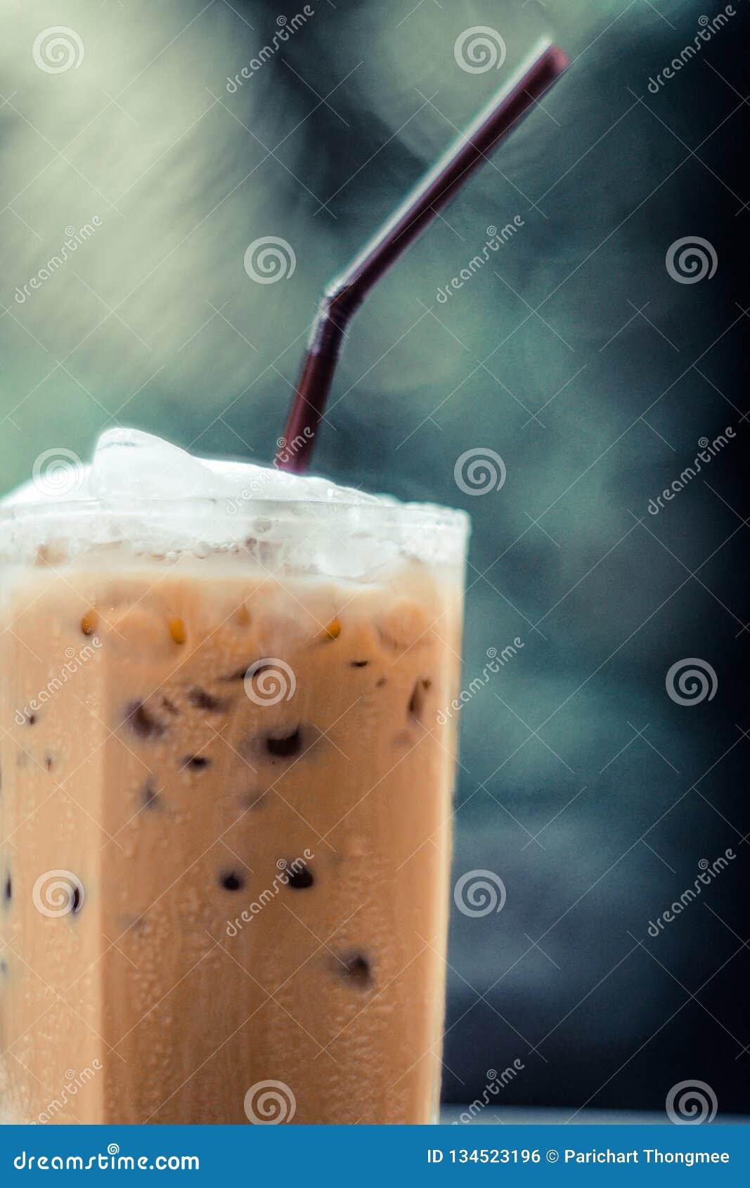 Fond Froid-brassé de nature de vert de café glacé