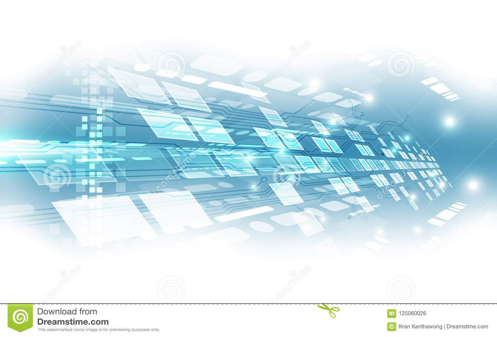 Fond futuriste abstrait de technologie numérique vecteur d illustration