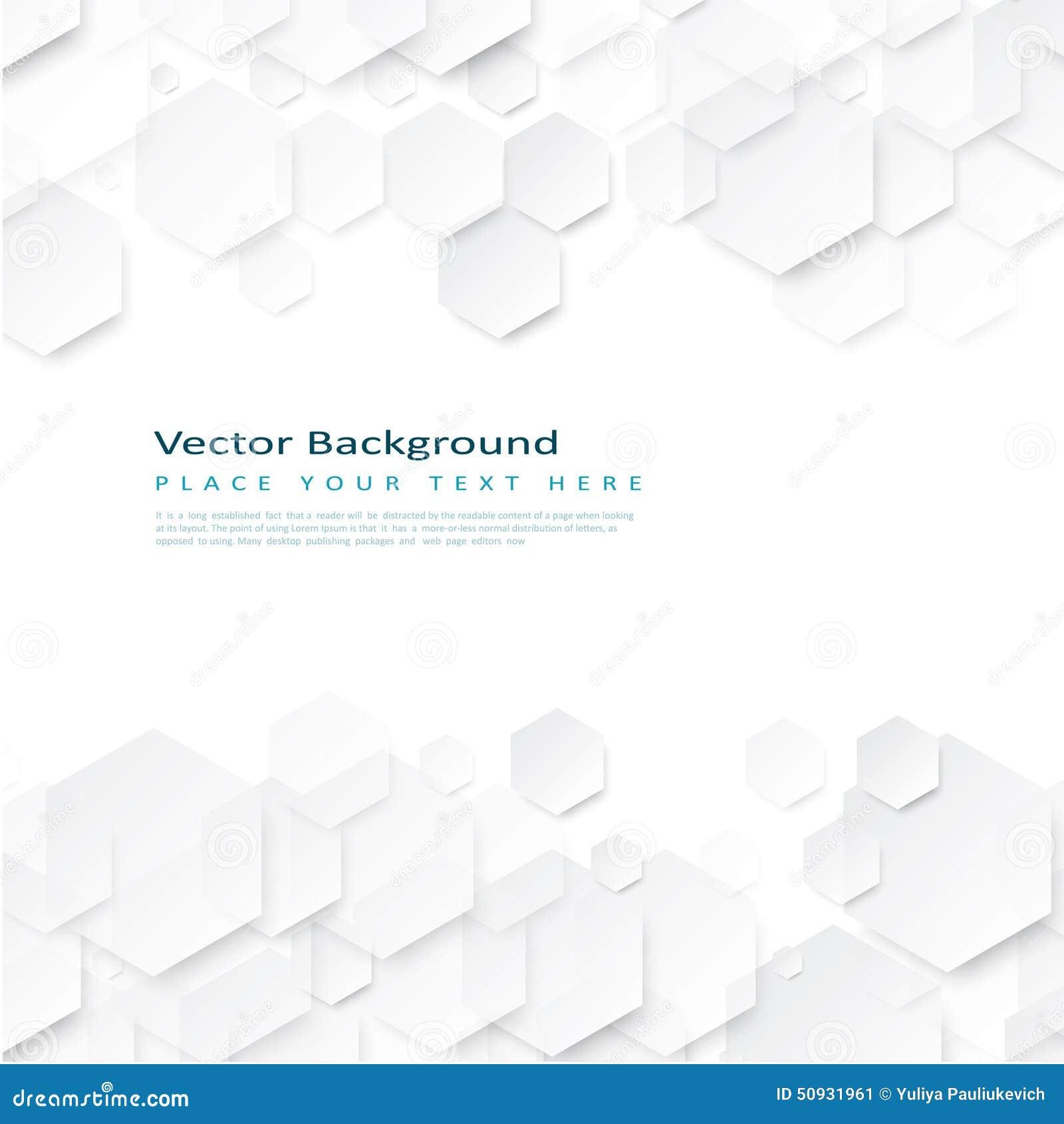 Fond géométrique abstrait avec des hexagones