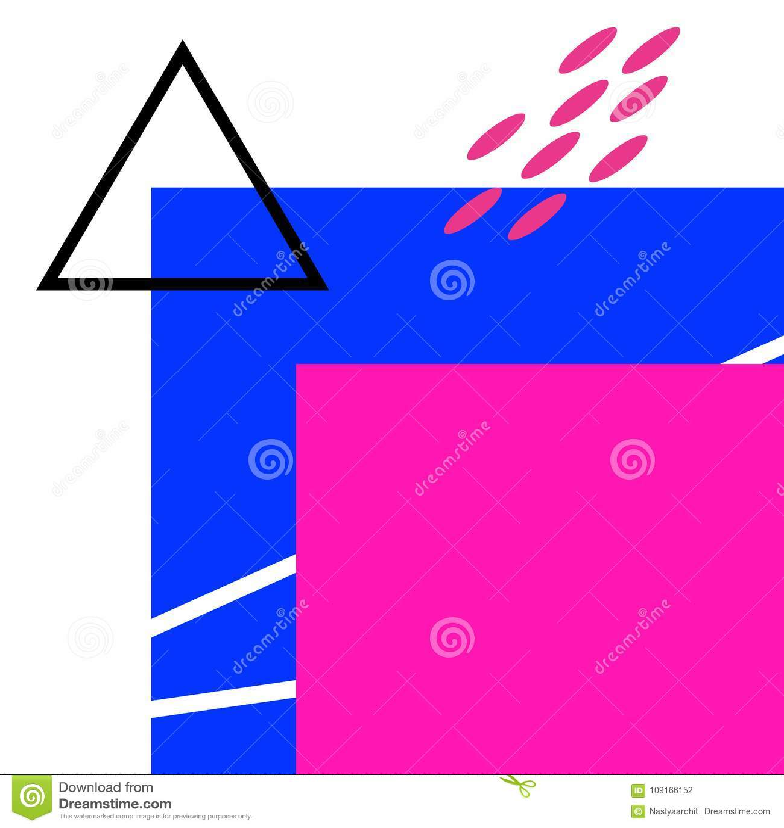 Fond géométrique abstrait Couleurs, rose et bleu lumineux