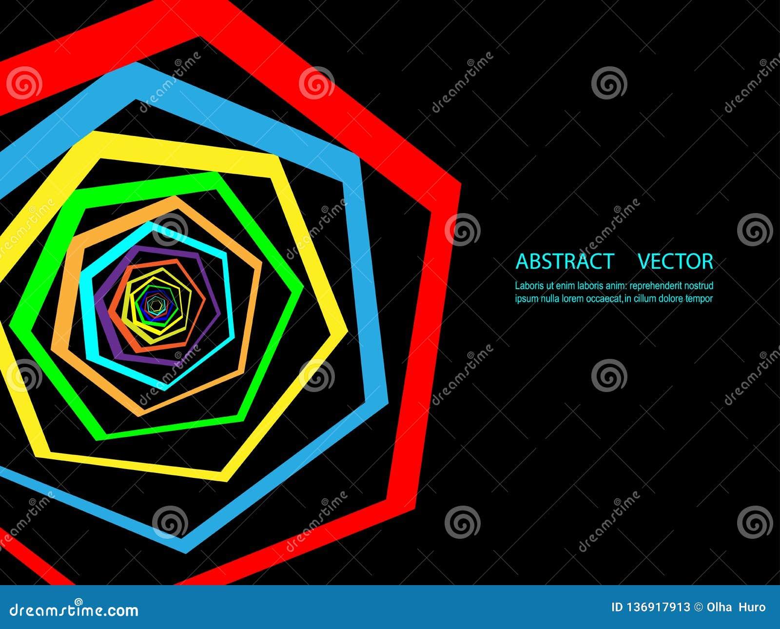 Fond géométrique coloré abstrait Calibre moderne pour la présentation d affaires ou de technologie