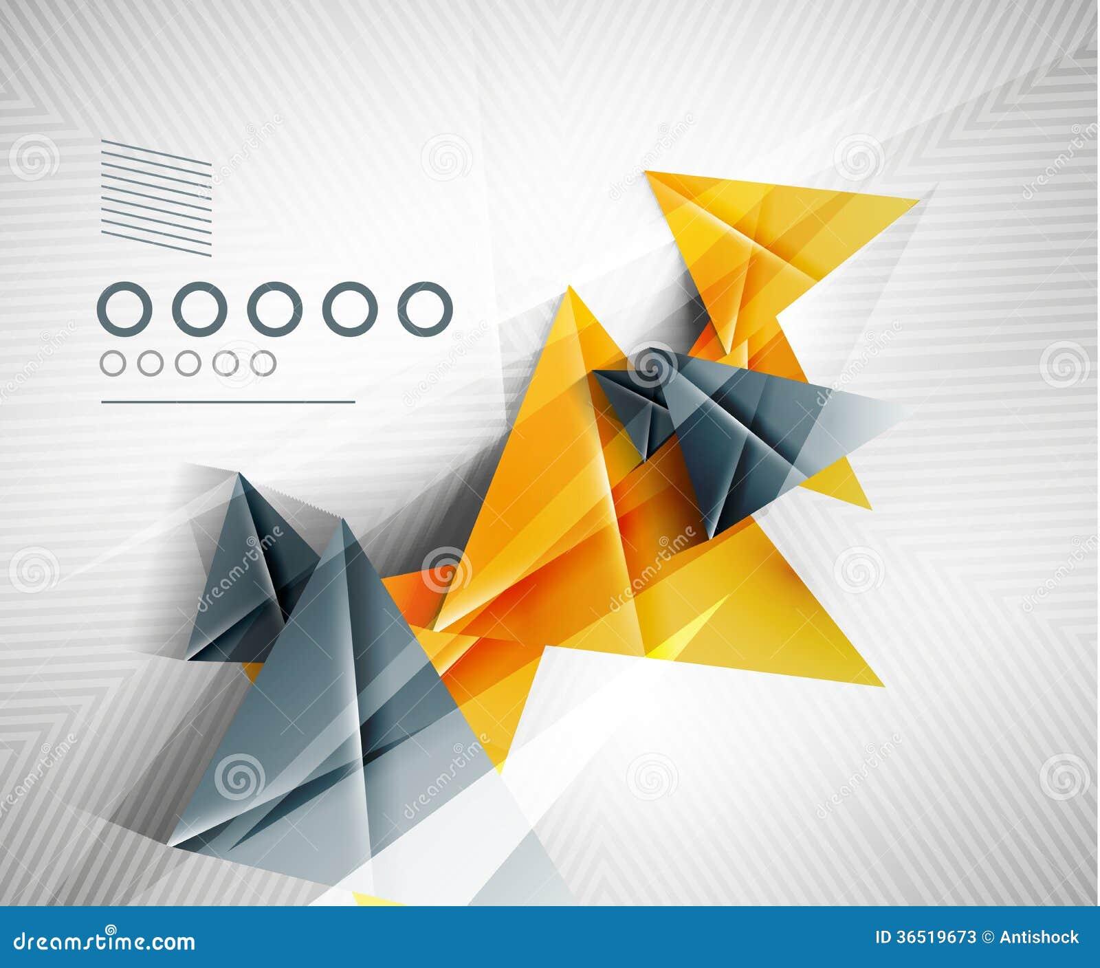 Fond géométrique de triangle d abrégé sur forme
