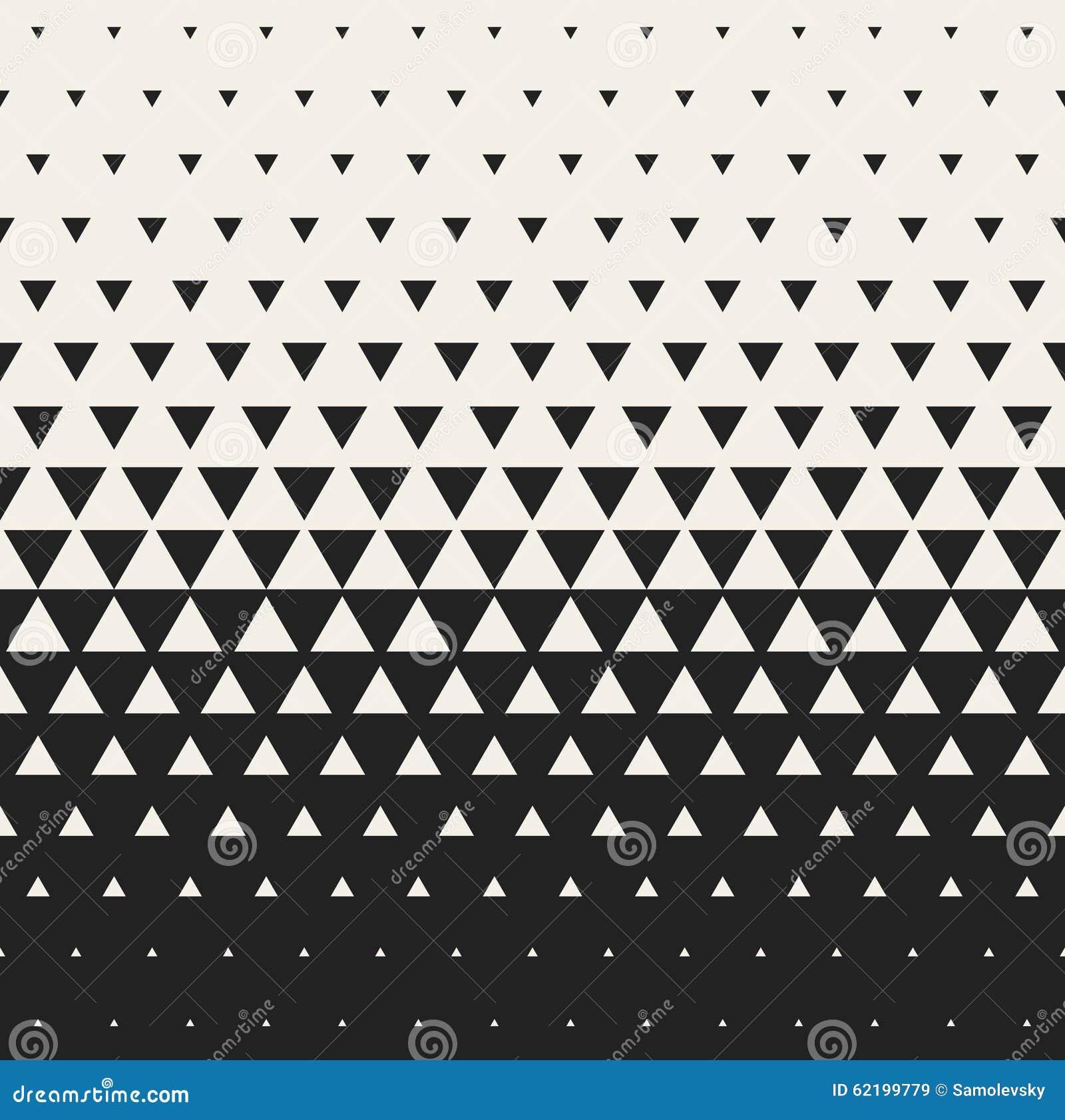 Fond géométrique Morphing noir et blanc sans couture de grille de triangle de vecteur de modèle tramé de gradient