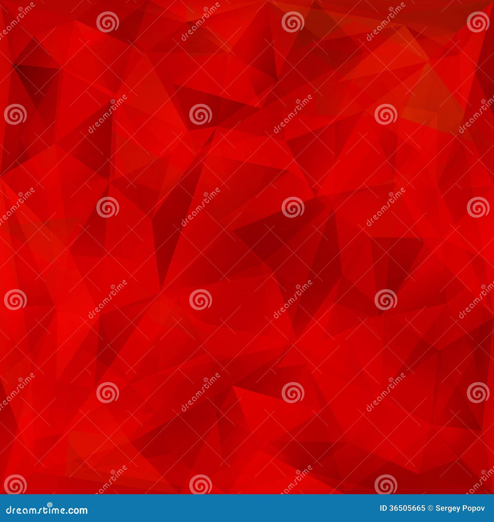Fond géométrique rouge de vecteur