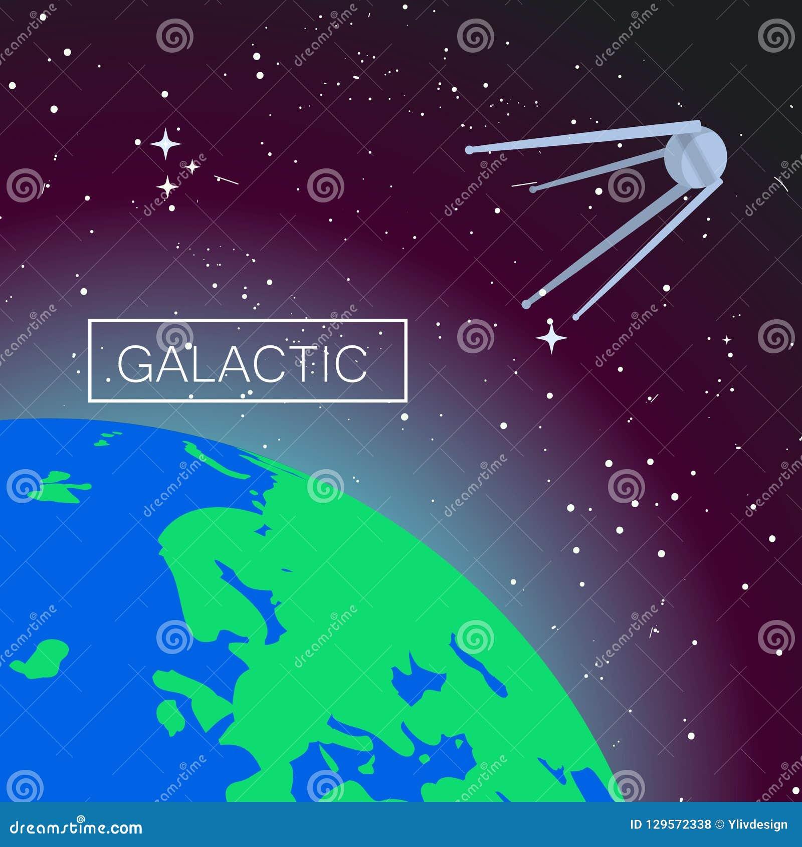 Fond galactique de concept de l espace, style plat