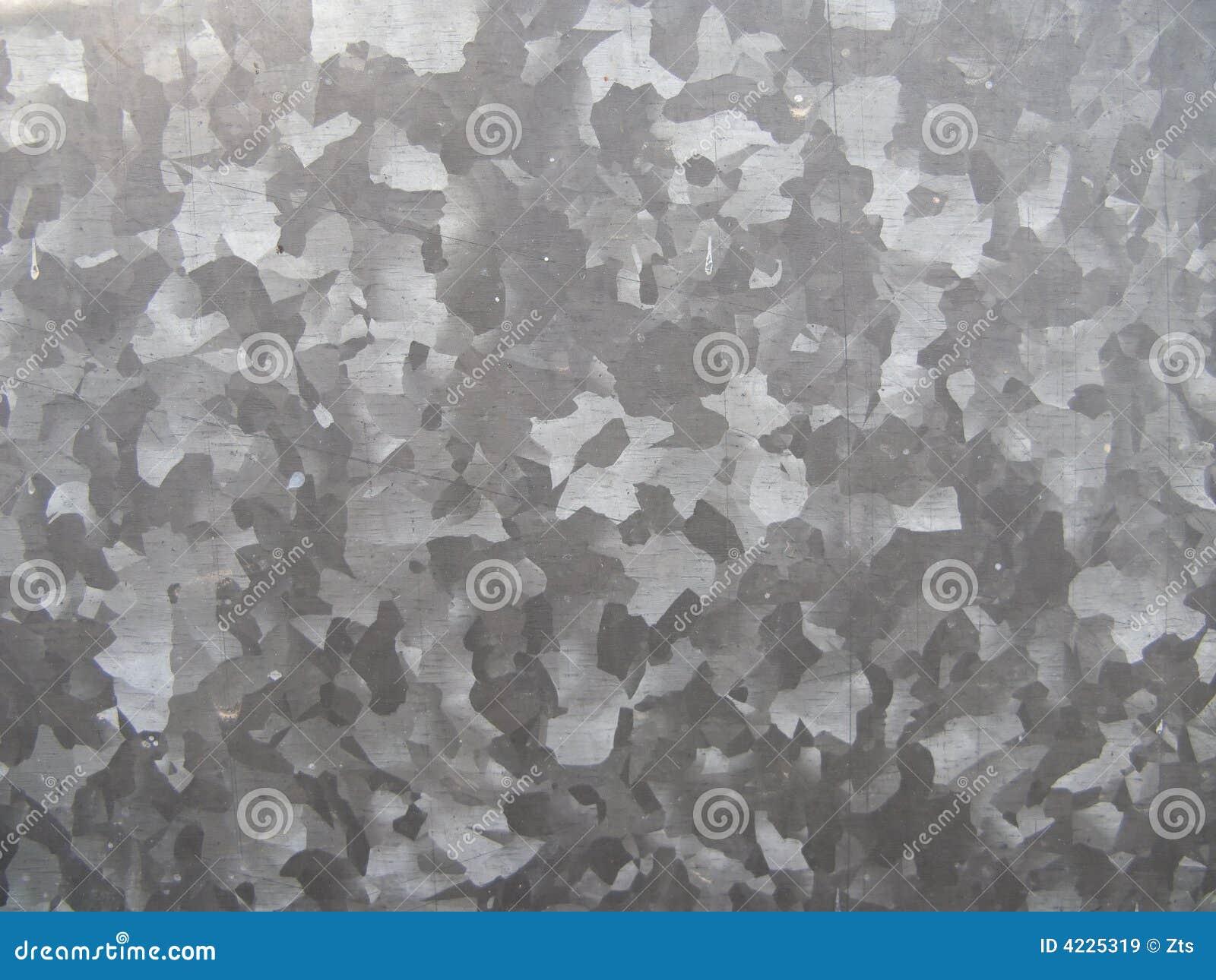 Fond galvanisé en métal