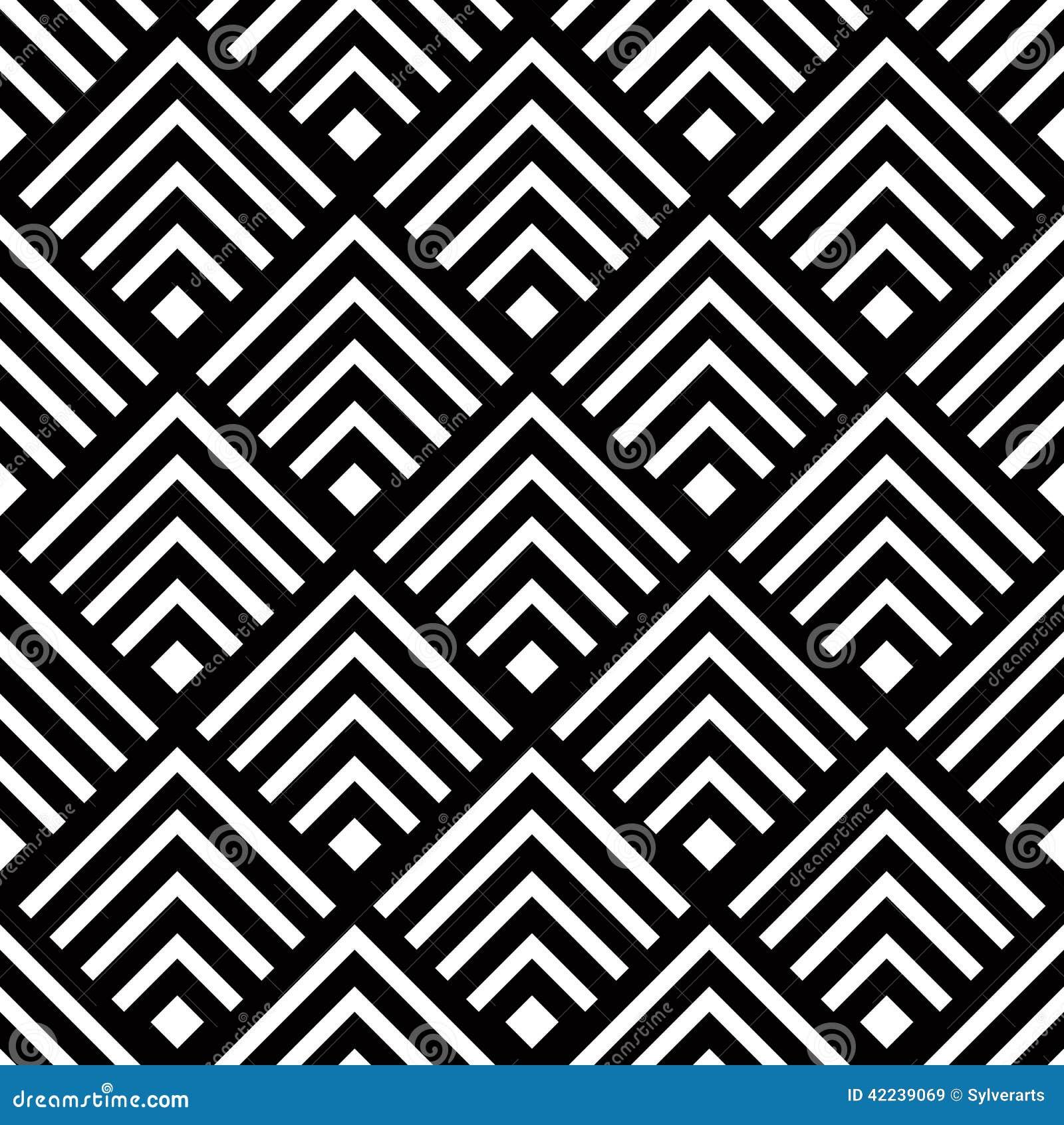 Fond g om trique sans couture de vecteur streptocoque - Tapis geometrique noir et blanc ...