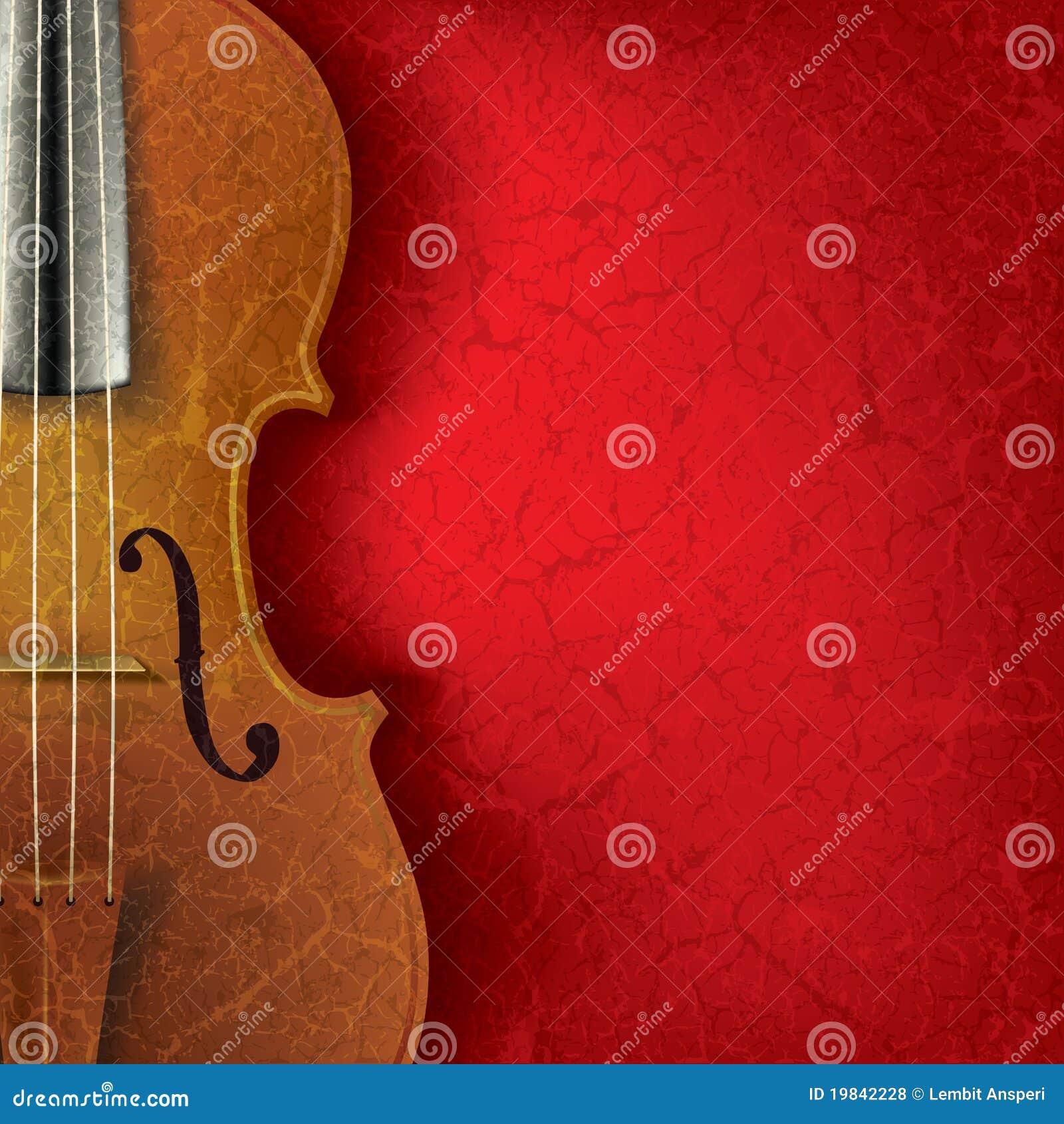 Fond grunge abstrait de musique avec le violon